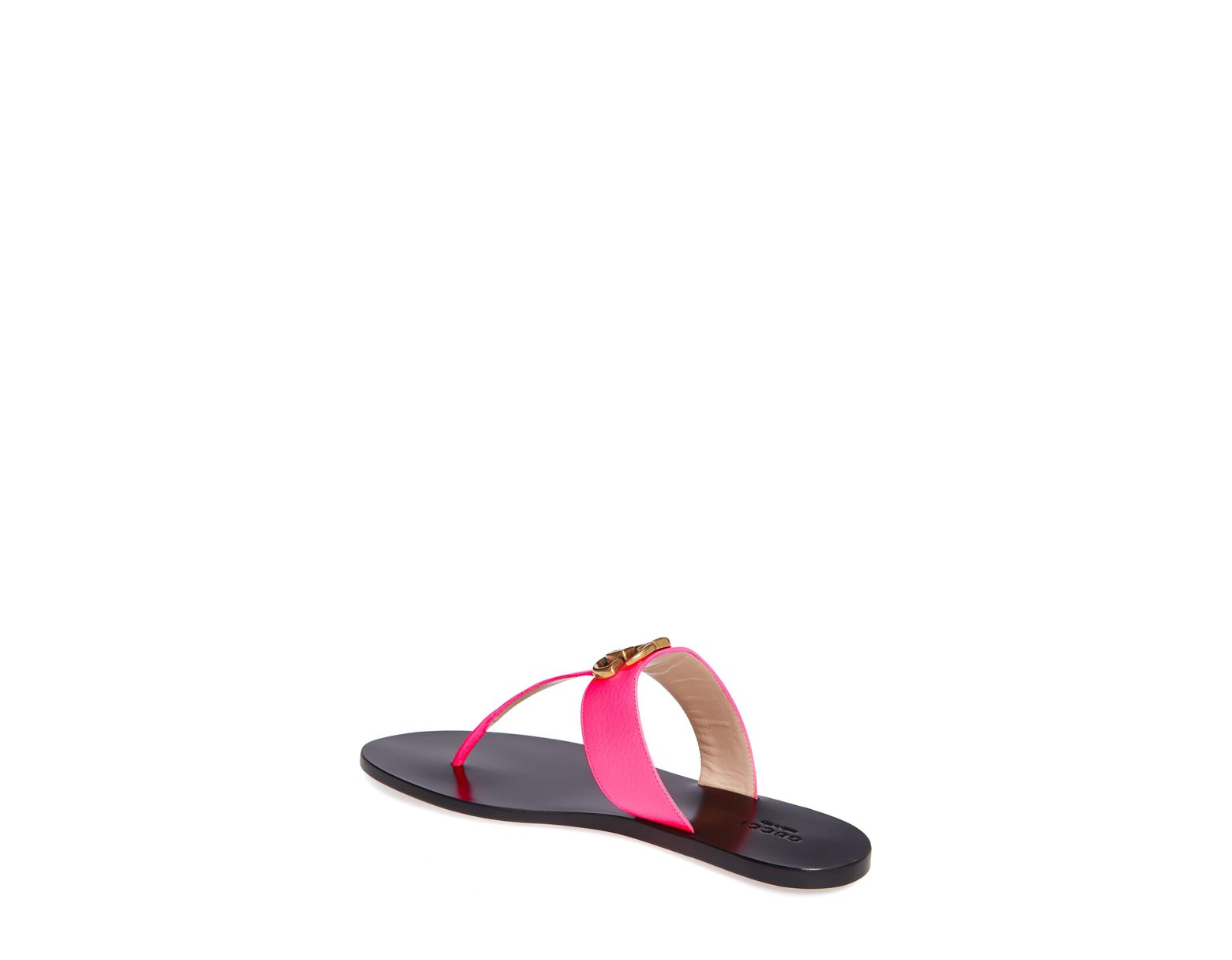 bff057034 Gucci Leather Thong Sandal With Double G in Pink - Save 9% - Lyst
