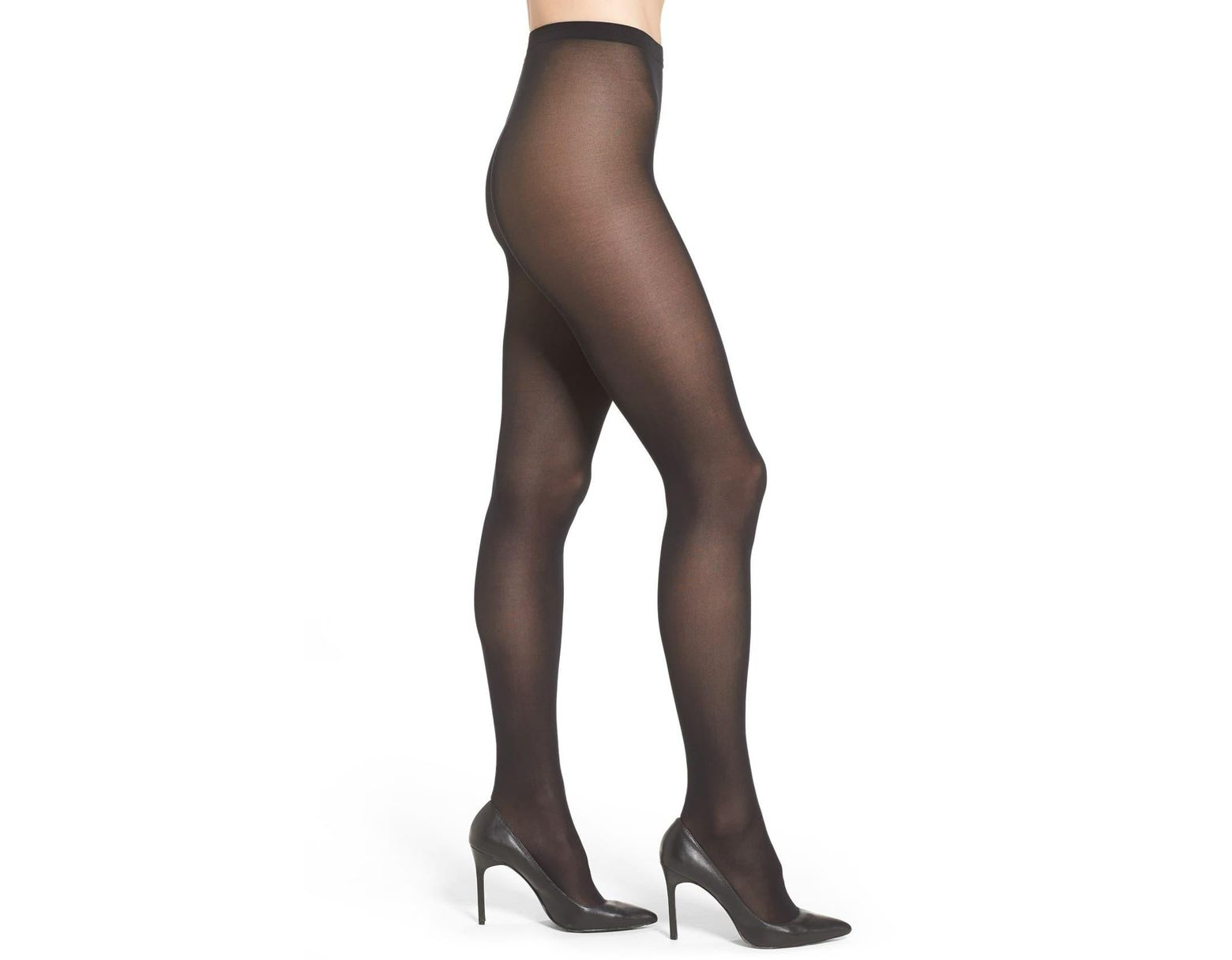 9d8e738159751 Lyst - Wolford 'velvet De Luxe' Semi-opaque Tights in Brown