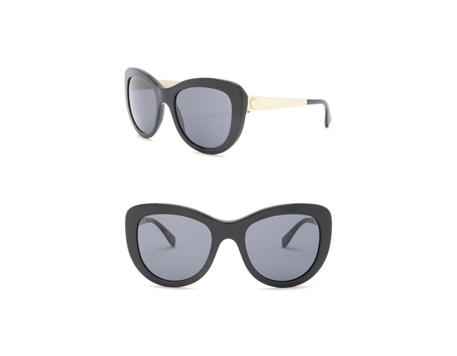 8605064e1cef6 Versace 54mm Oversized Sunglasses in Black - Lyst