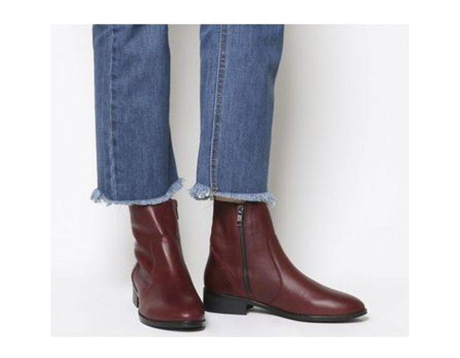 cb8c1982c38 Office Ashleigh Flat Ankle Boots in Red - Lyst