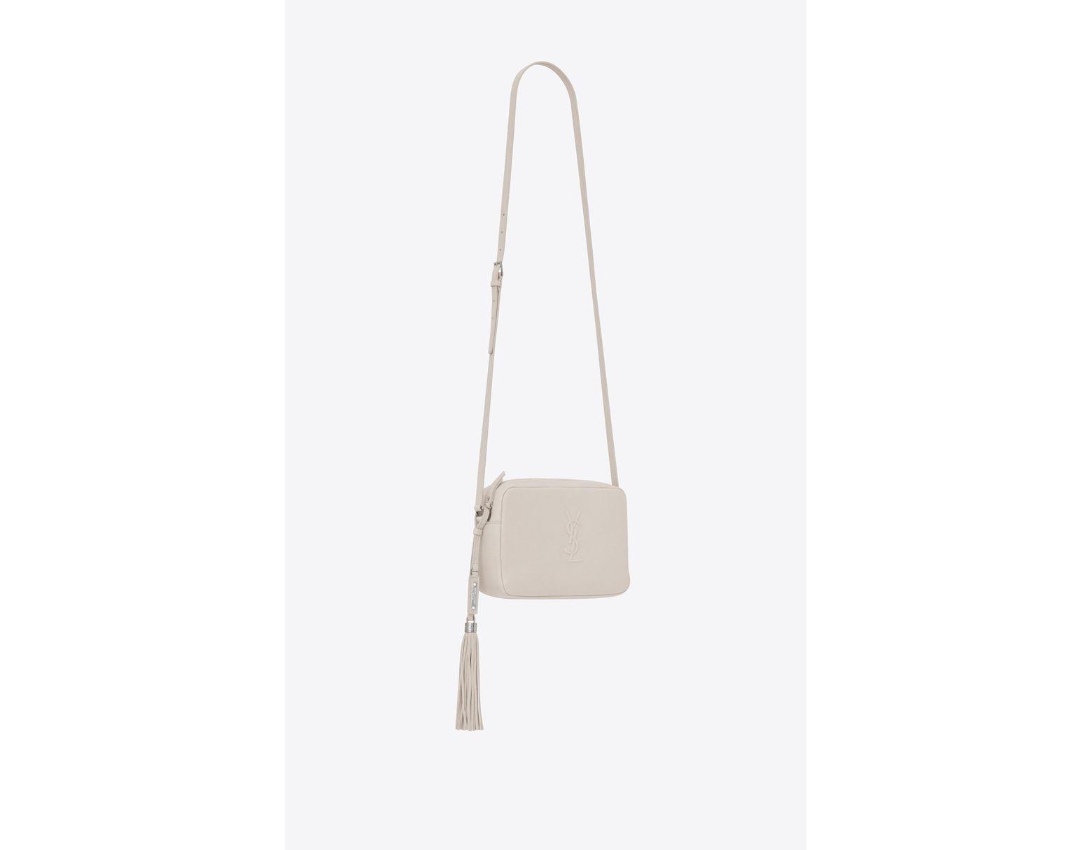 7ca49a3001c Saint Laurent Lou Camera Bag in White - Save 28% - Lyst