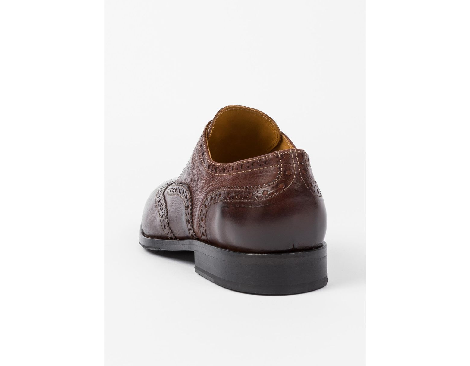 b4449d924c326 Paul Smith Chocolate Brown Calf Leather 'marti' Brogues in Brown for Men -  Lyst