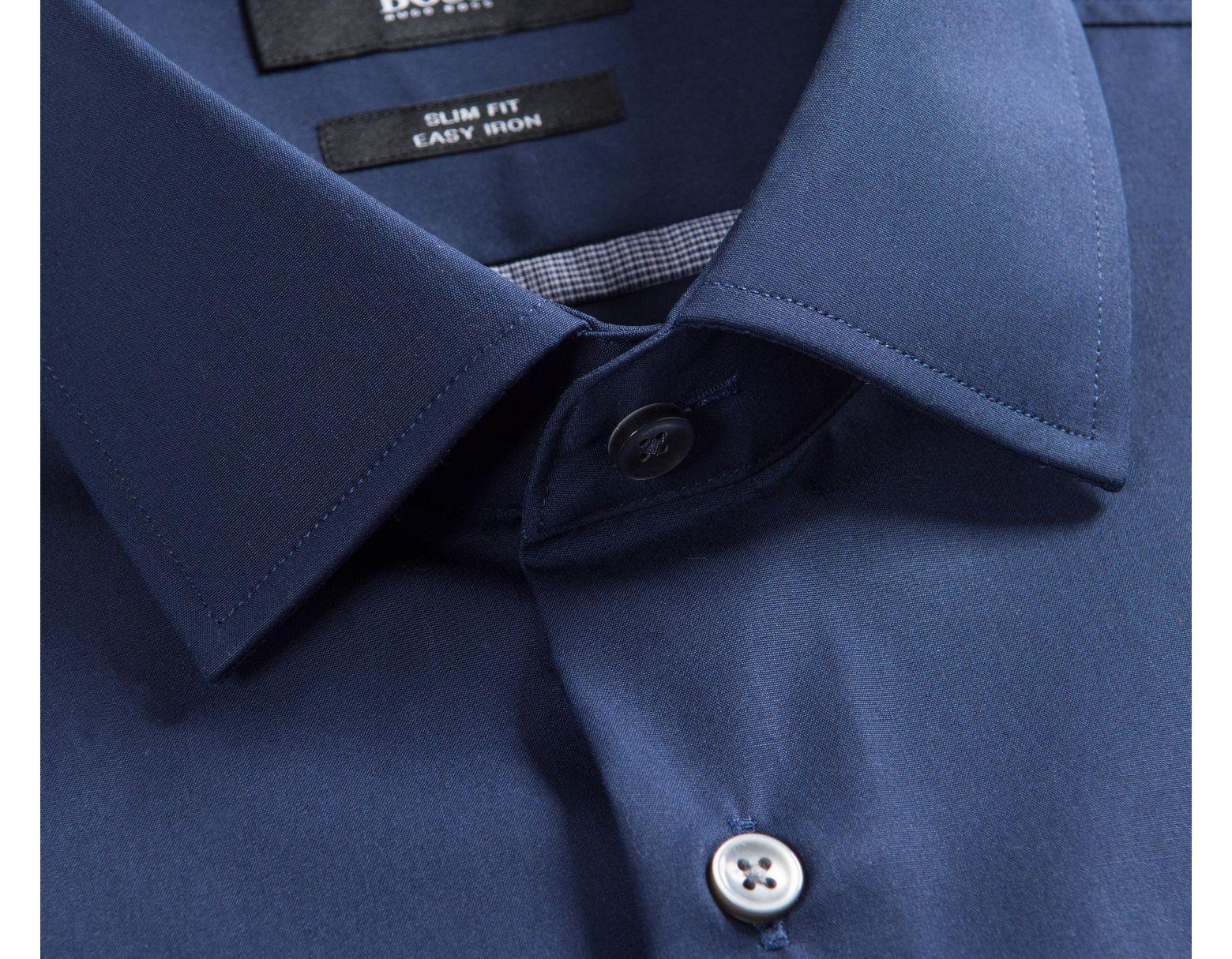 bed23d327 BOSS 'jerris' Easy Iron Formal Shirt Navy in Blue for Men - Lyst