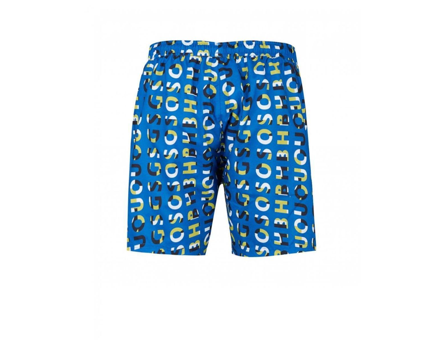 d5624dfc2b BOSS by Hugo Boss Piranha Allure Print Swim Shorts in Blue for Men ...