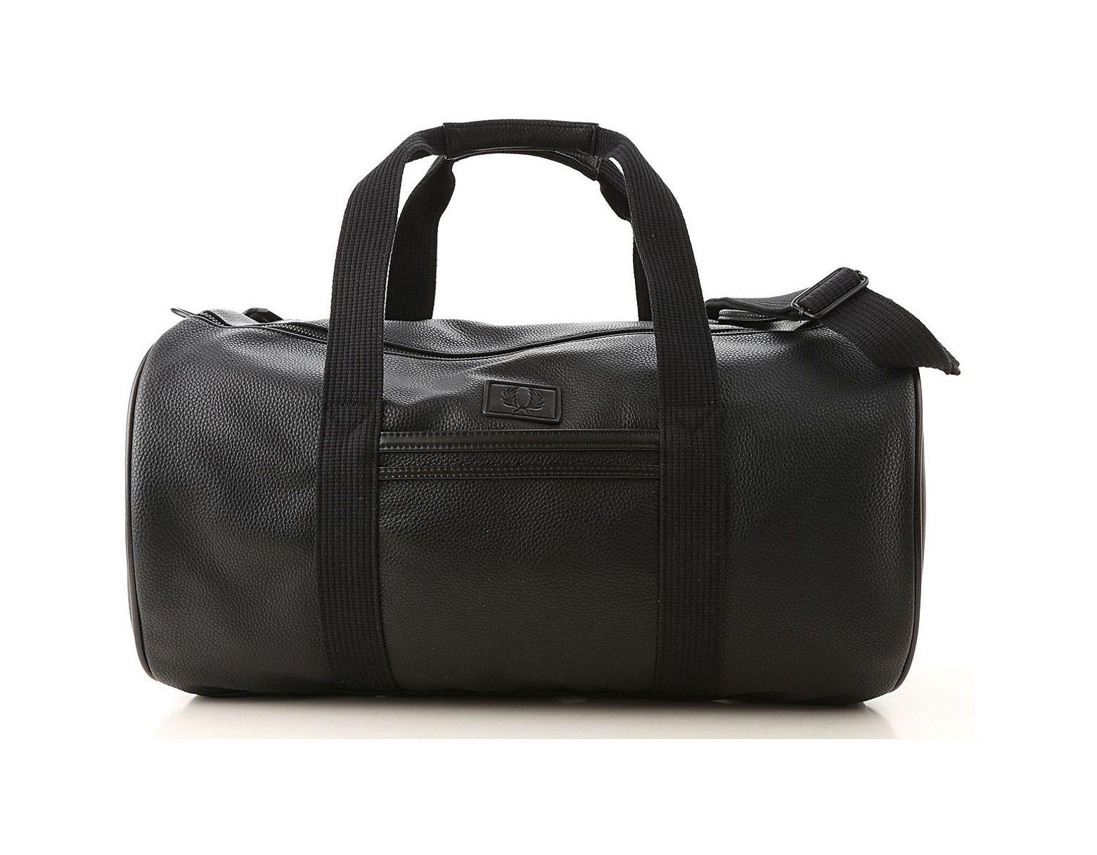 d5a8a77269e11f Fred Perry Gym Bag Sports For Men in Black for Men - Lyst