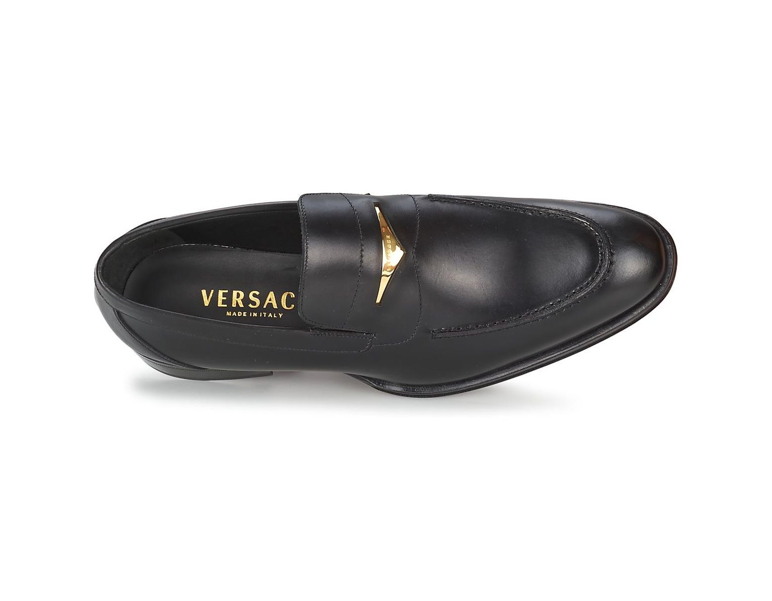 95892b1e09 Shoes Loafers Casual Lyst Eglantine For Versace Men In Black dCWxoerB