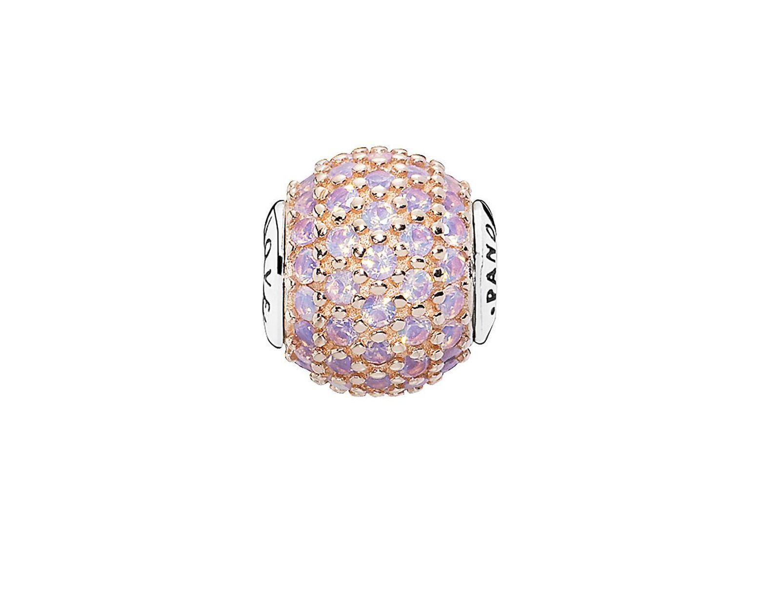 c6ae25f9b PANDORA Essence Collection Rose & Silver Crystal Love Charm - Lyst