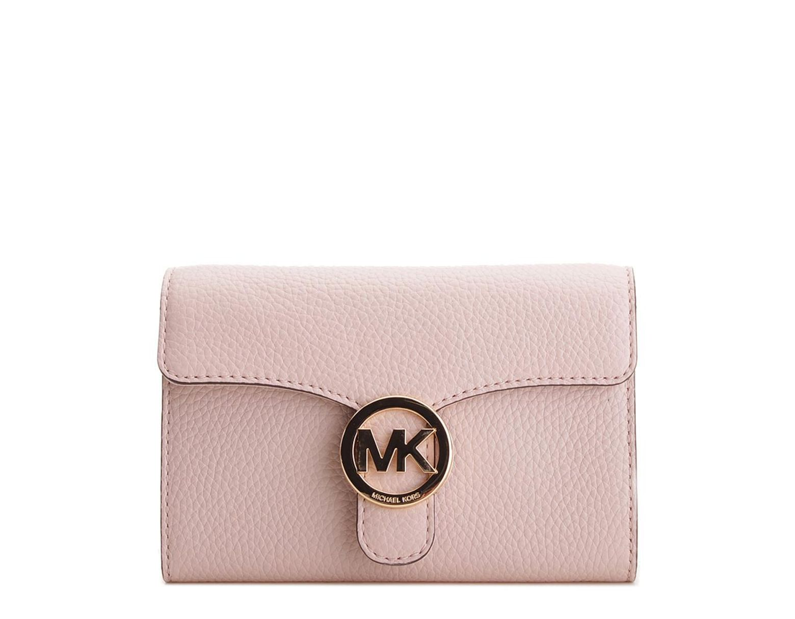 d3ef613d5786 MICHAEL Michael Kors Vanna Large Phone Leather Crossbody in Pink - Save 1%  - Lyst