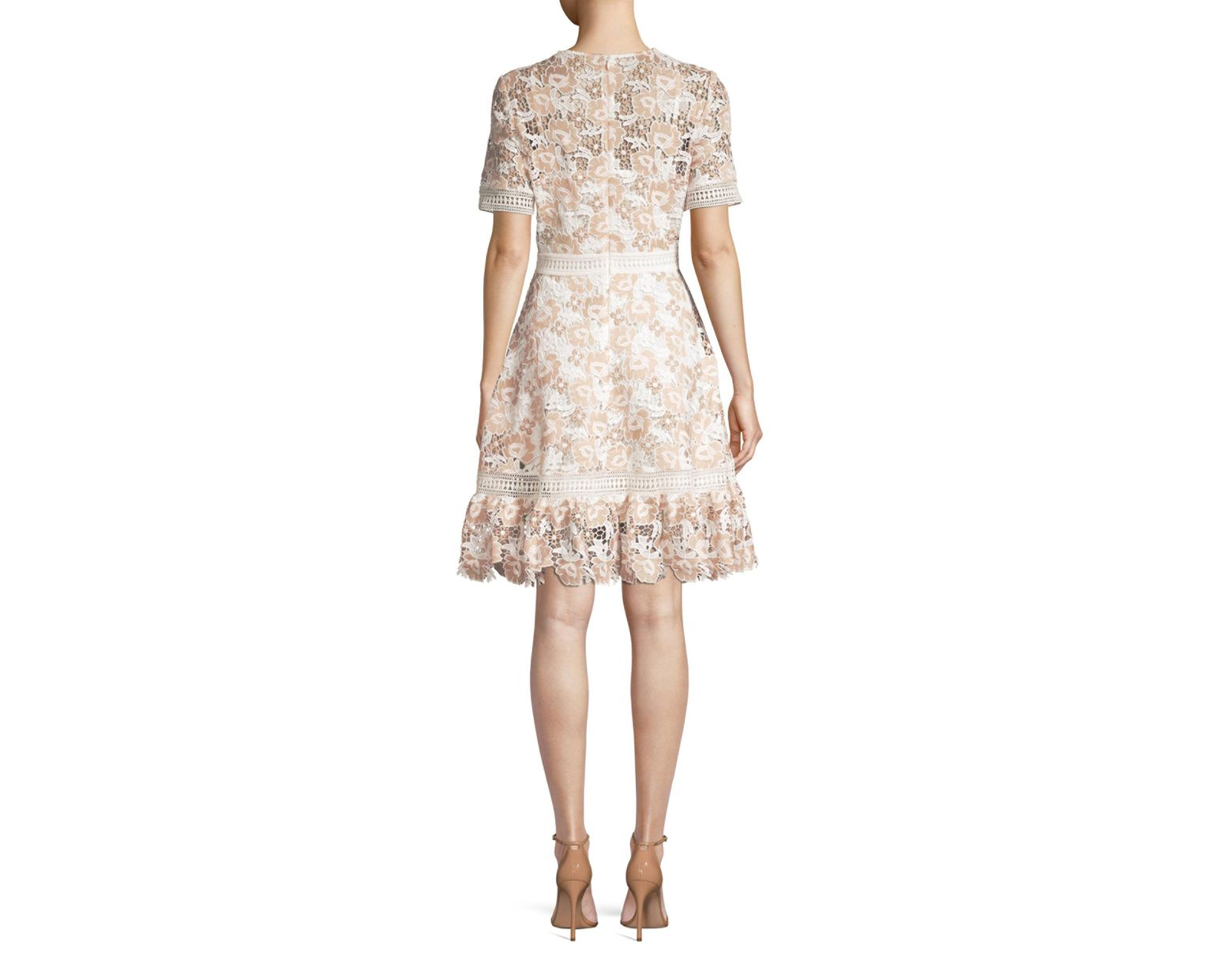 e0639ace3150d5 Shoshanna Toscana Floral Lace A-line Dress in Natural - Save 25% - Lyst