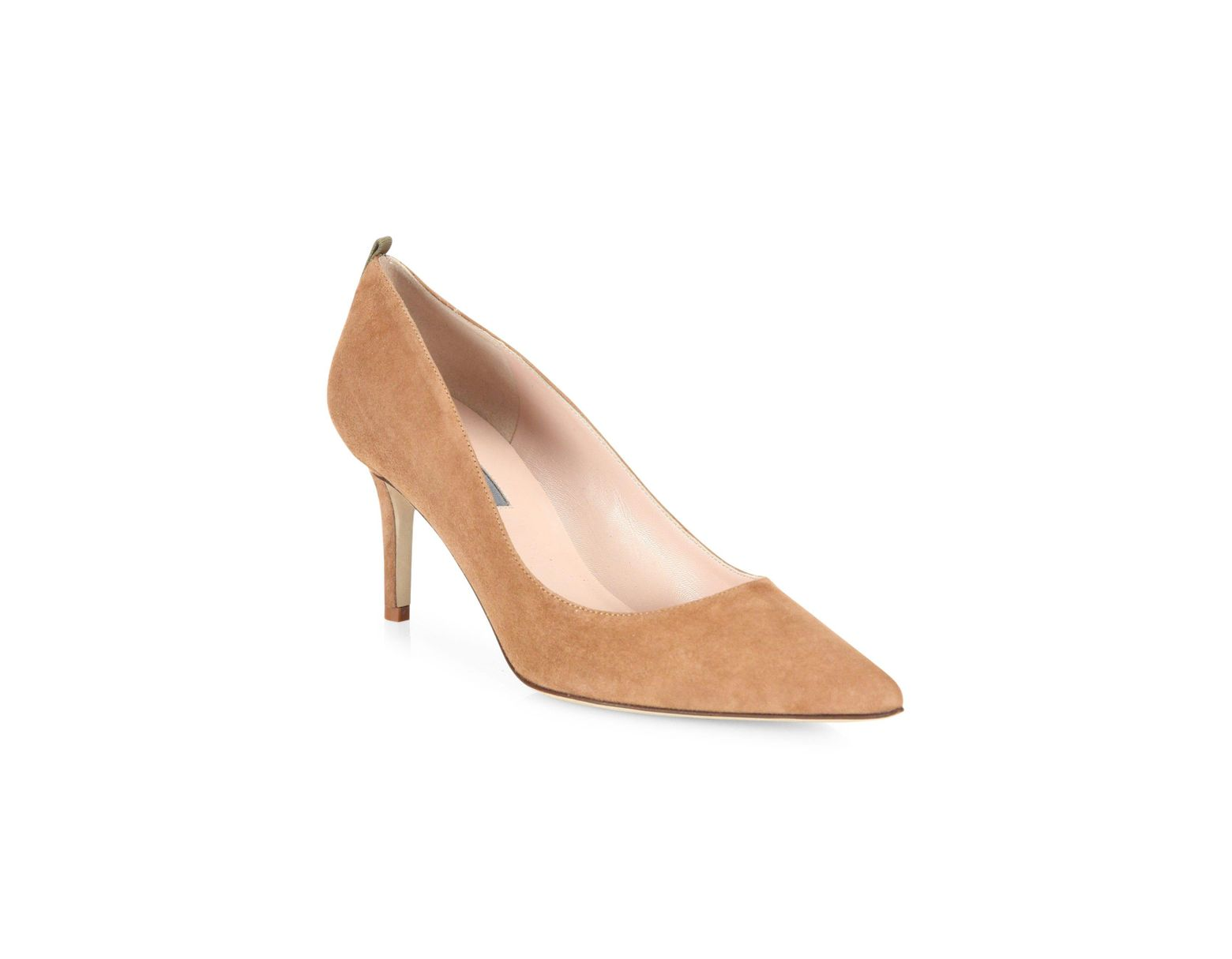 33fc719bf9 SJP by Sarah Jessica Parker Women's Fawn Point Toe Suede Pumps - Tan - Lyst