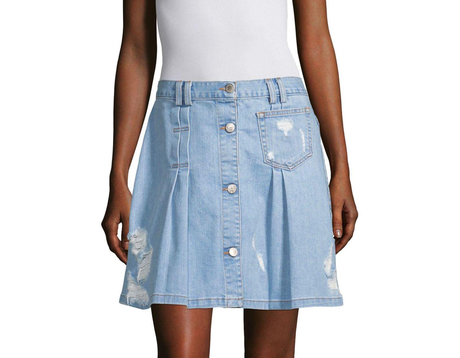 ccc156190d Public School Penny Denim Skirt in Blue - Save 57% - Lyst