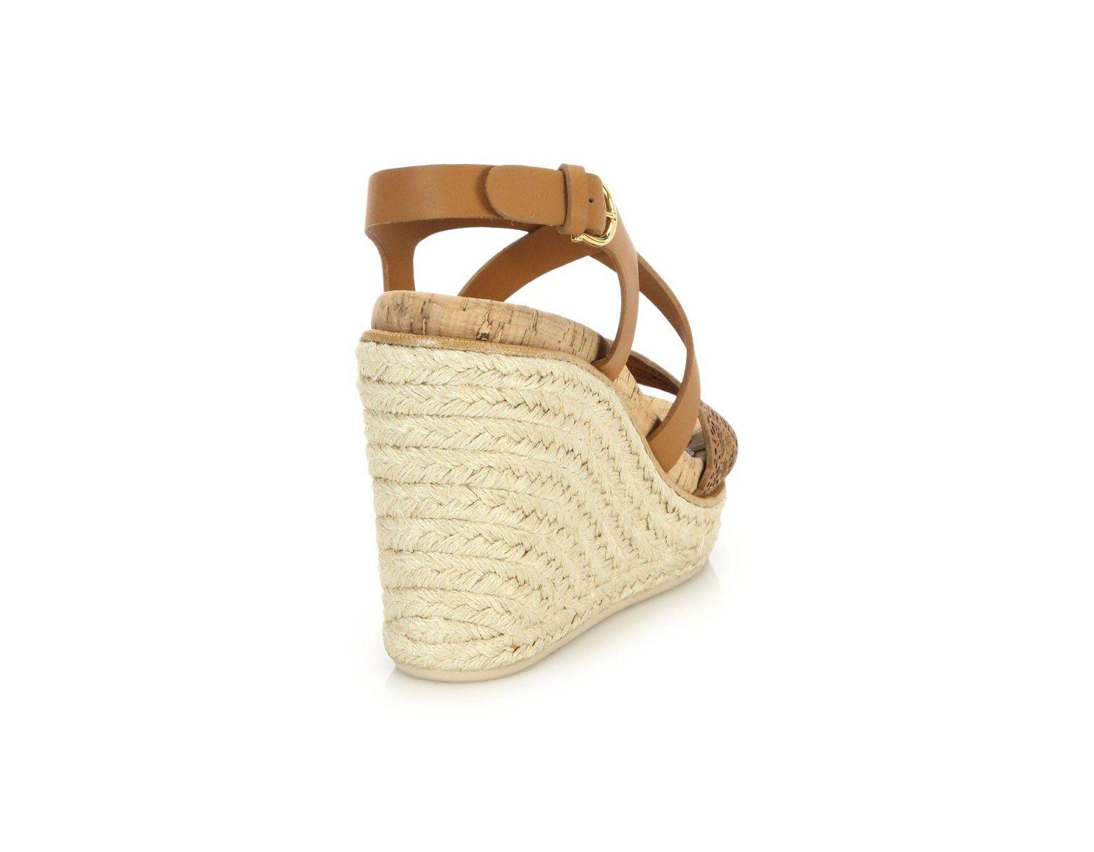 3f3129a0b69 Women's Brown Gioela Raffia & Leather Platform Wedge Sandals