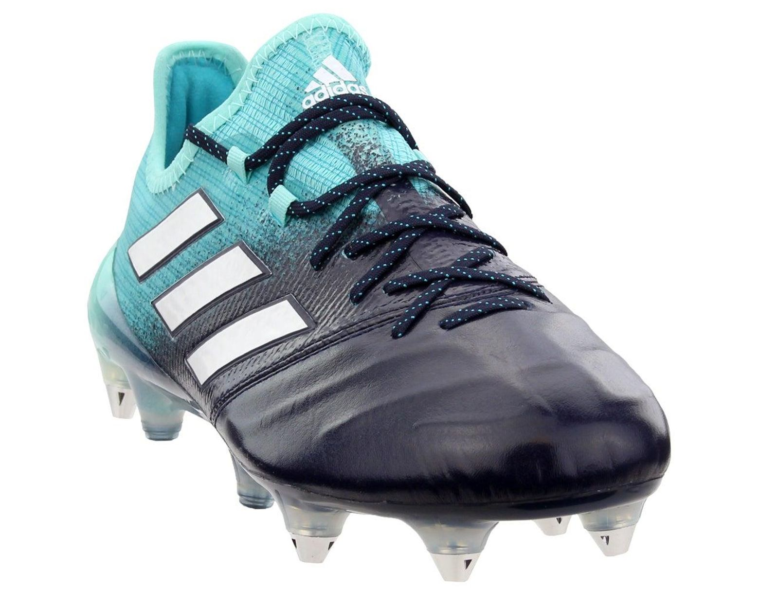 los angeles 285bf 3c0f9 Men's Blue Ace 17.1 Soft Ground Leather