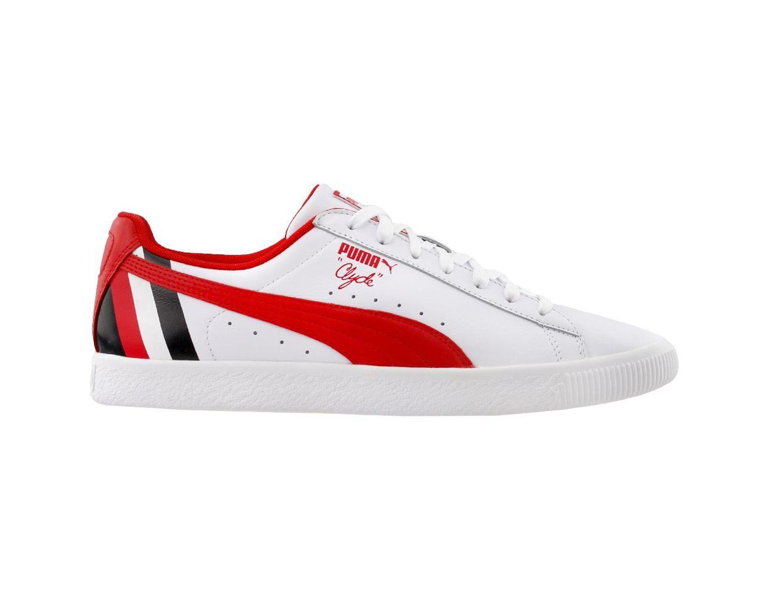 big sale efa81 4a800 Men's White Clyde Stripes