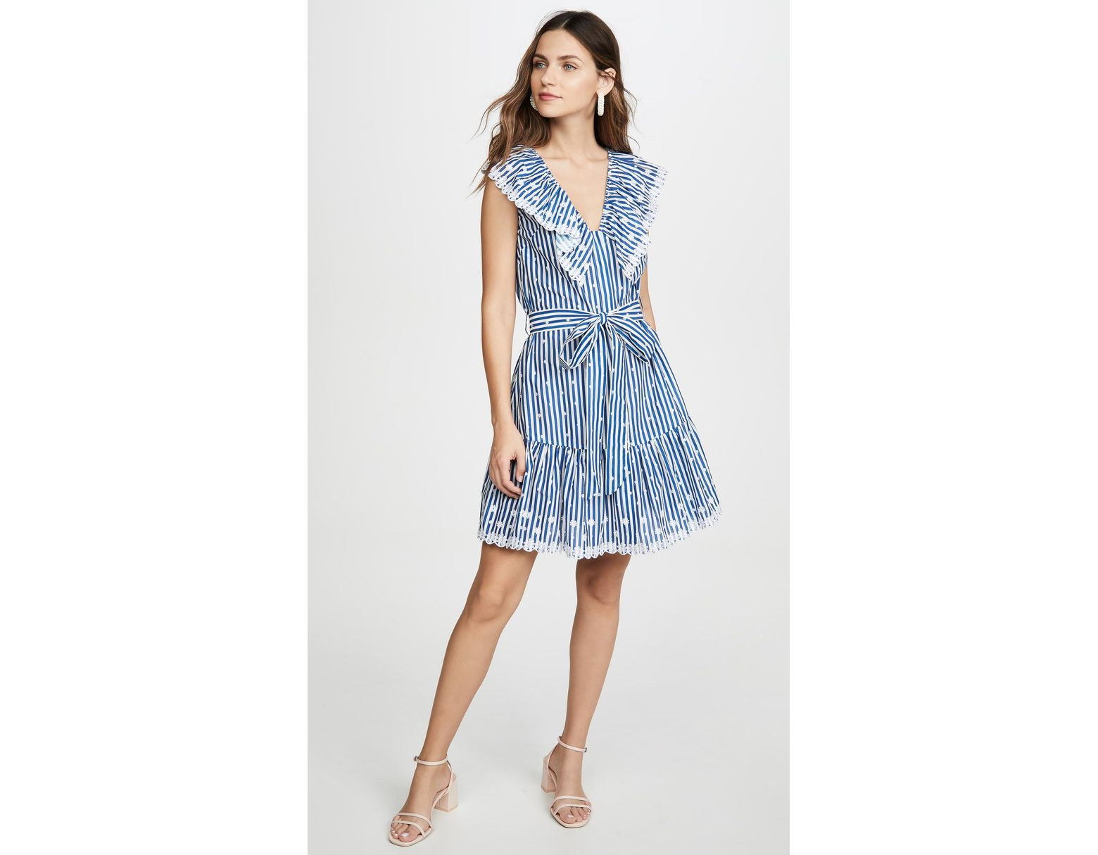 8fa197c8d336b Miguelina Rosalie Mini Dress in Blue - Lyst