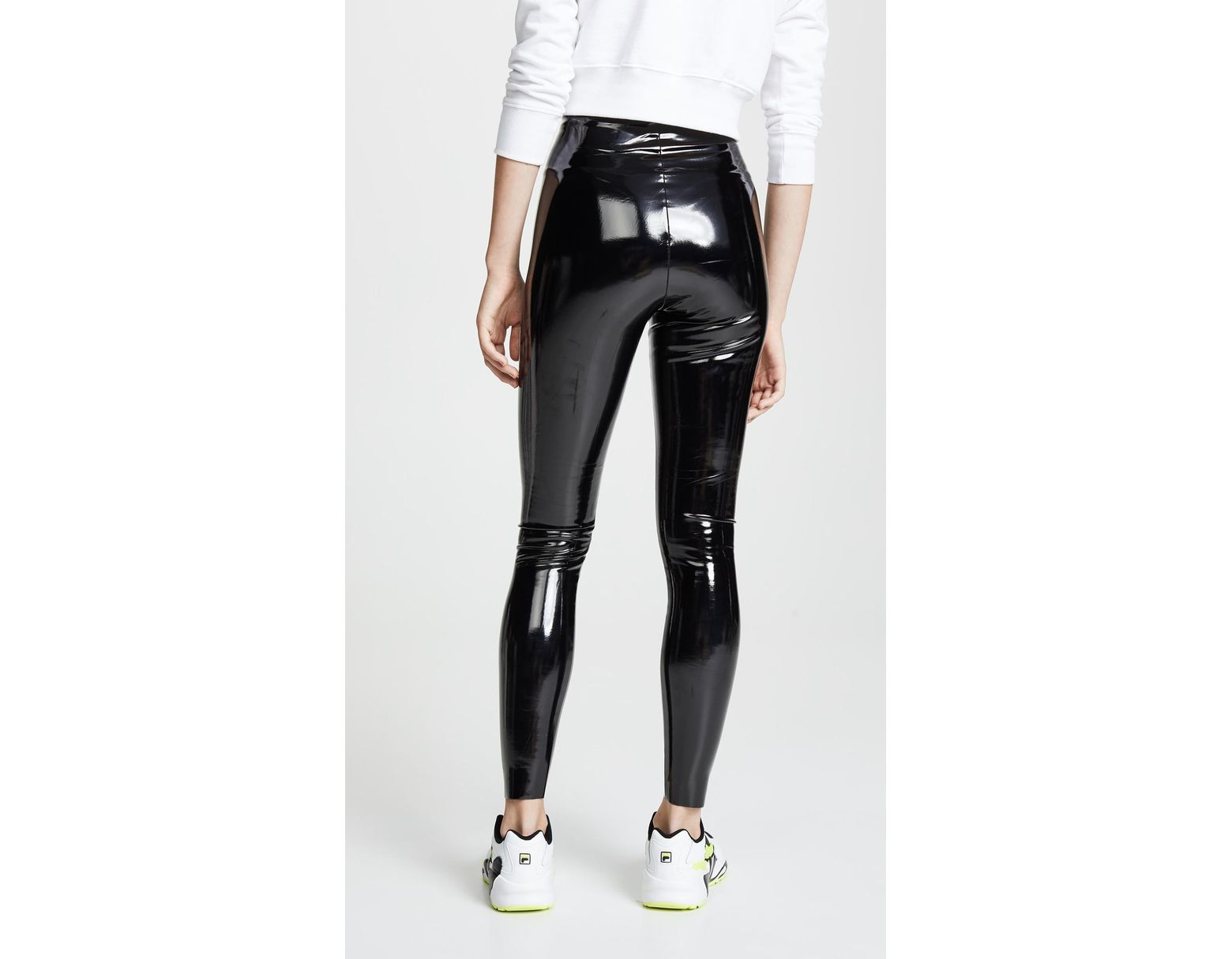 e47033595c3e8b Commando Faux Patent Leather Perfect Control Leggings in Black - Lyst