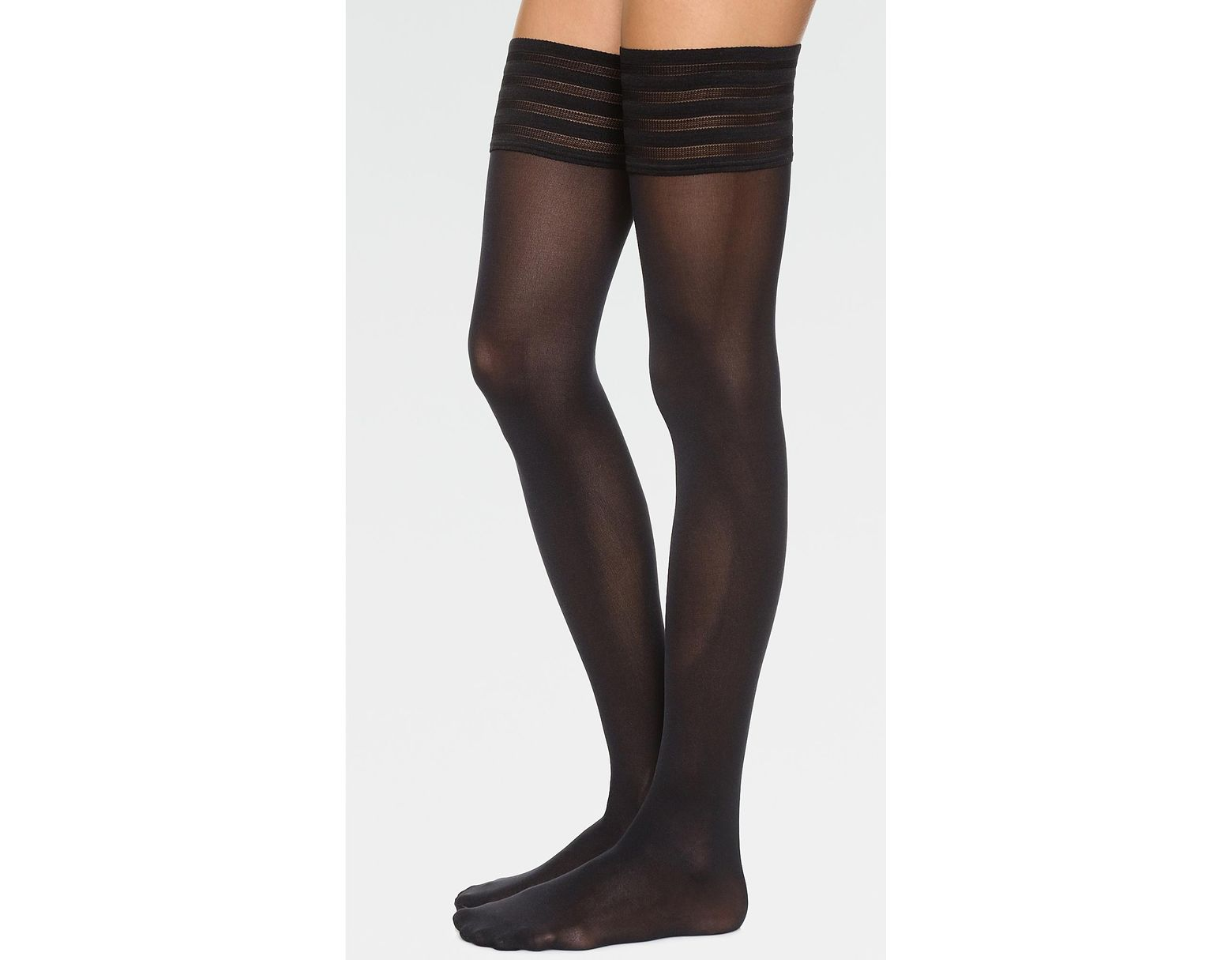 a2c24a8c7acd3 Wolford Velvet De Luxe 50 Stay Up Tights in Black - Lyst