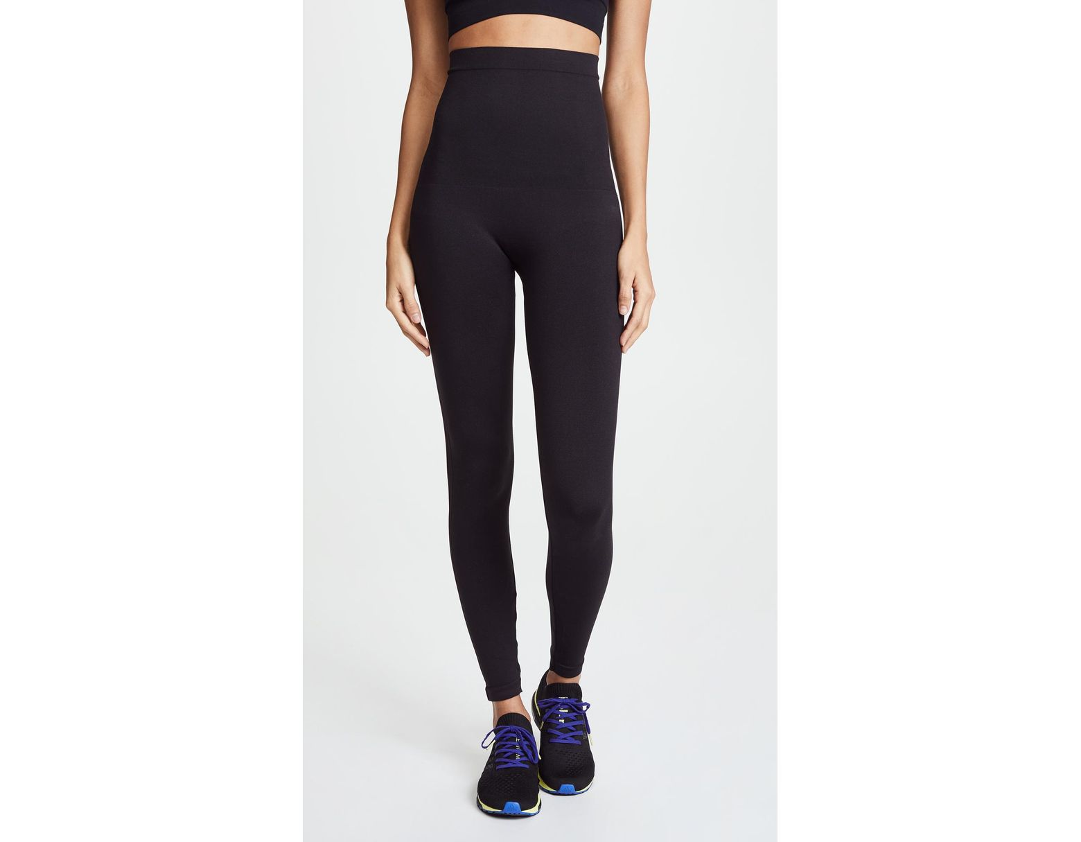 86ec708a80480 Spanx High Waisted Look At Me Now Leggings in Black - Lyst