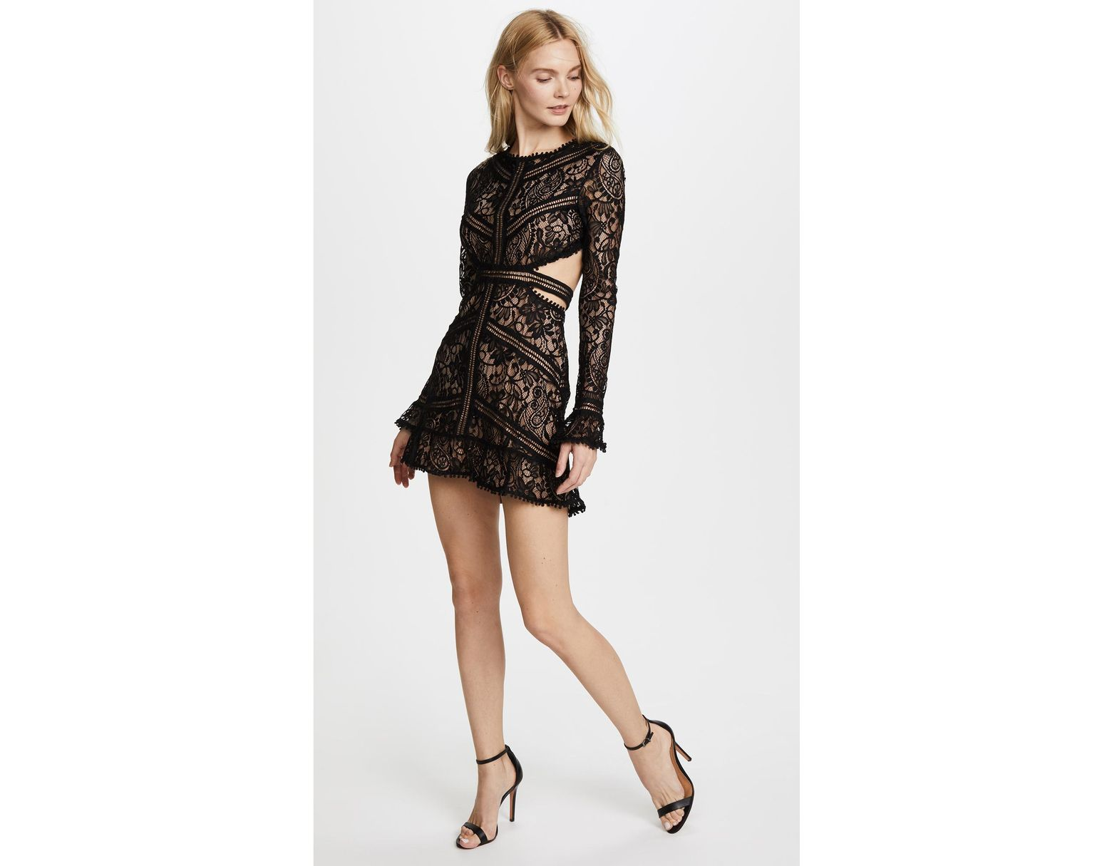 19ce7f1c5b5ee For Love & Lemons Emerie Cutout Dress in Black - Lyst