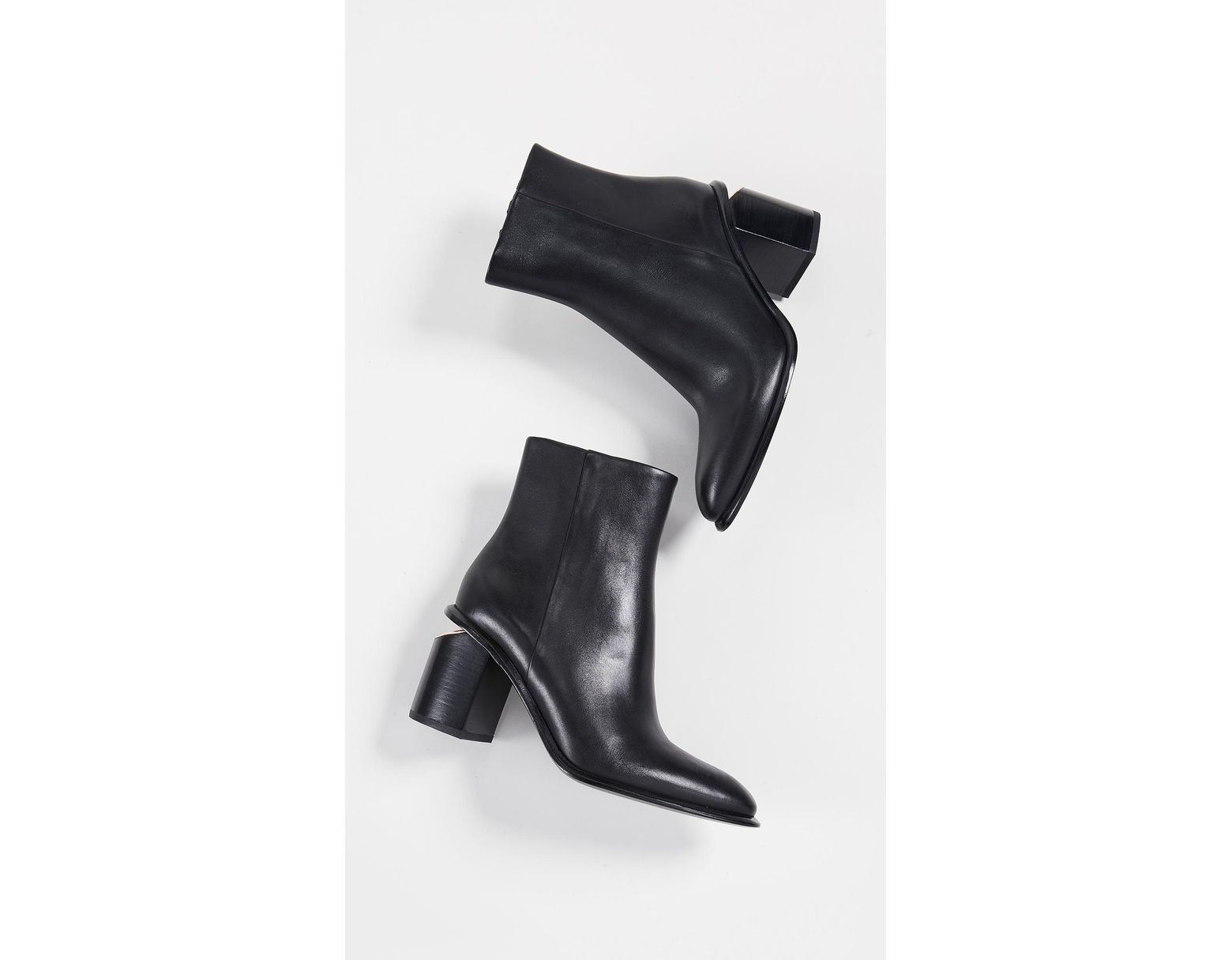 368873a98ddf Lyst - Alexander Wang Anna Mid Heel Booties in Black