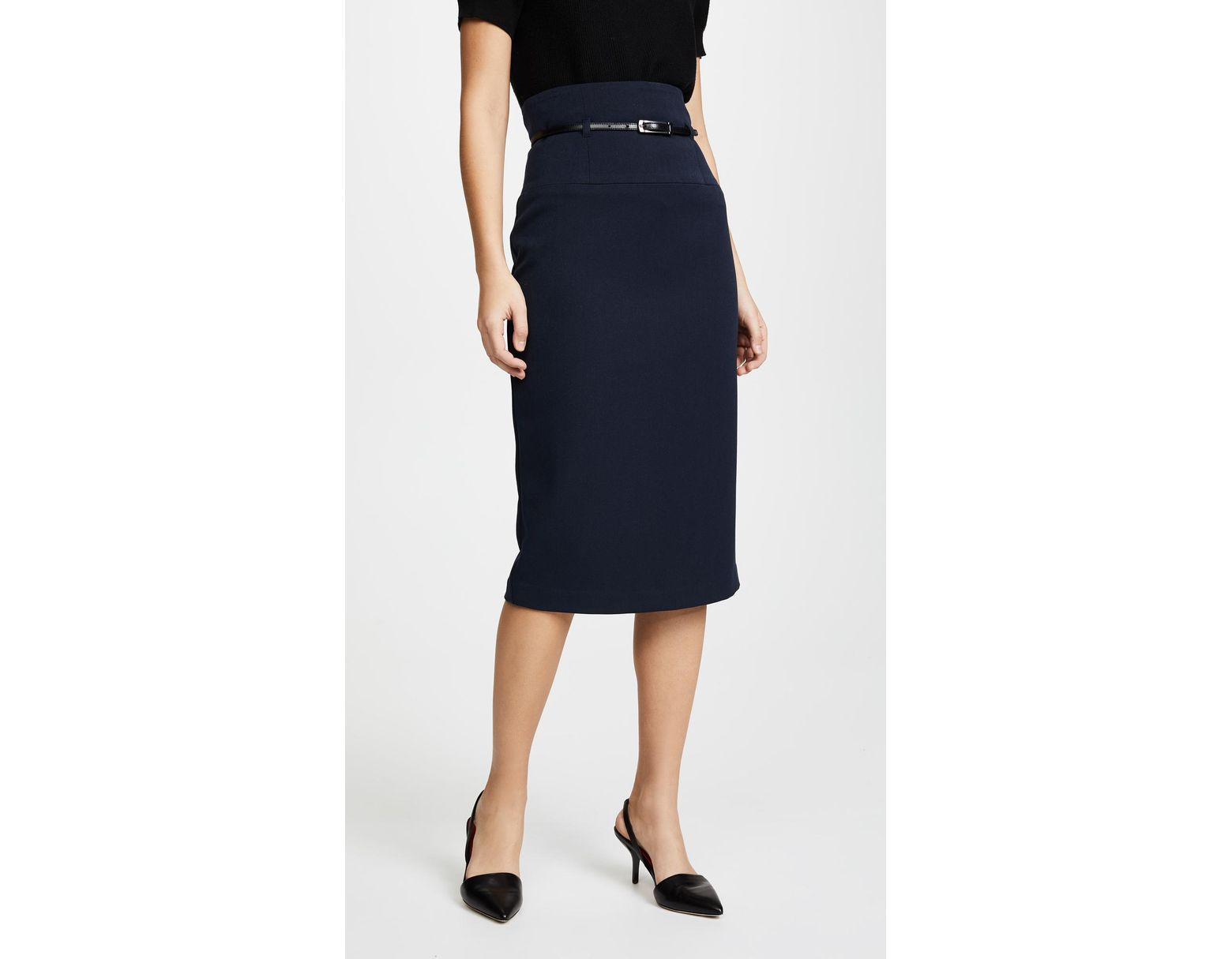865418d2dc Black Halo High Waisted Pencil Skirt in Black - Lyst