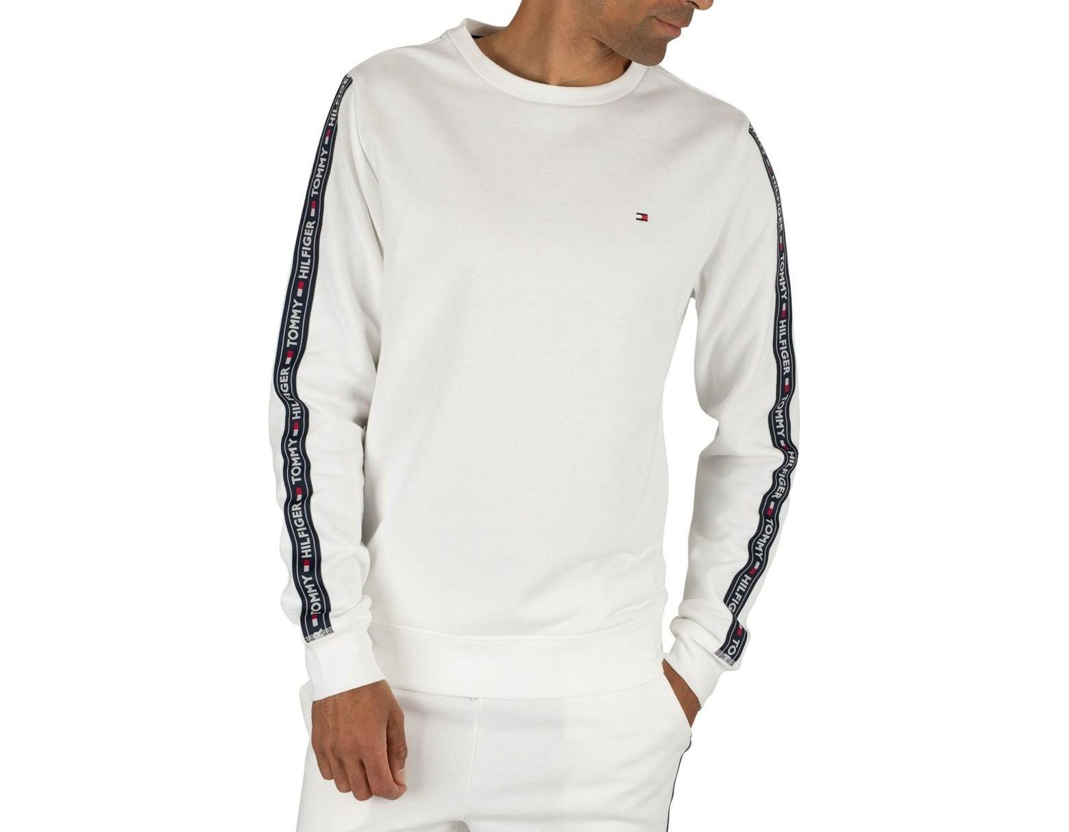 Tommy Hilfiger Men/'s Track Sweatshirt White