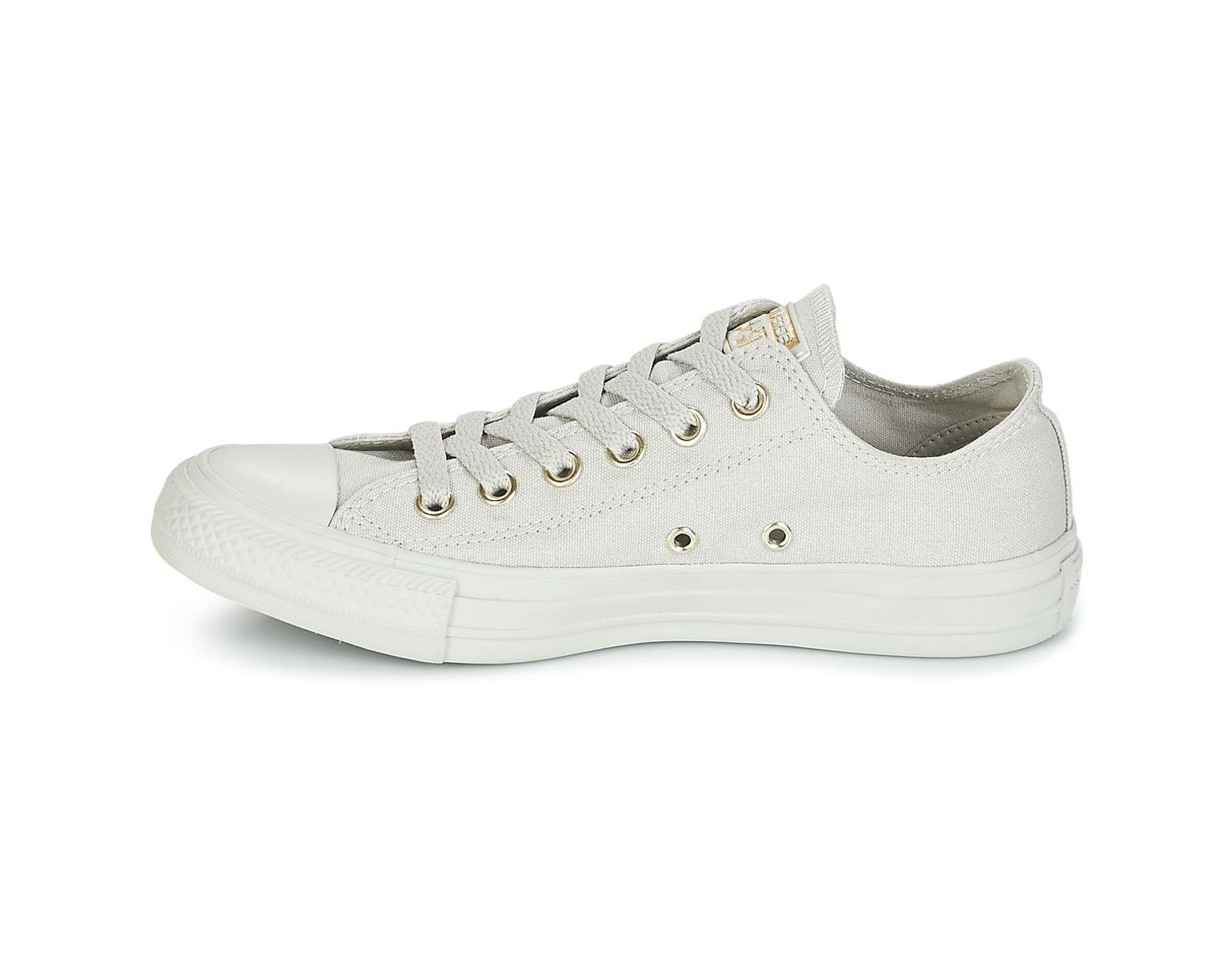 0eb3ee222829 Converse Chuck Taylor All Star Ox Mono Glam Canvas Color Shoes (trainers)  in Gray - Lyst