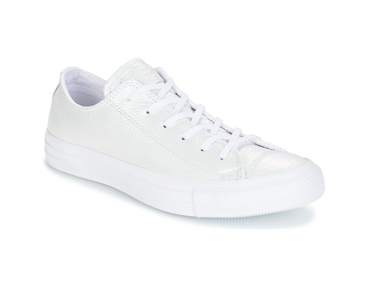 08d5b2deb2b Converse Chuck Taylor All Star Iridescent Leather Ox Iridescent Leather O  Shoes (trainers) in White - Save 29% - Lyst