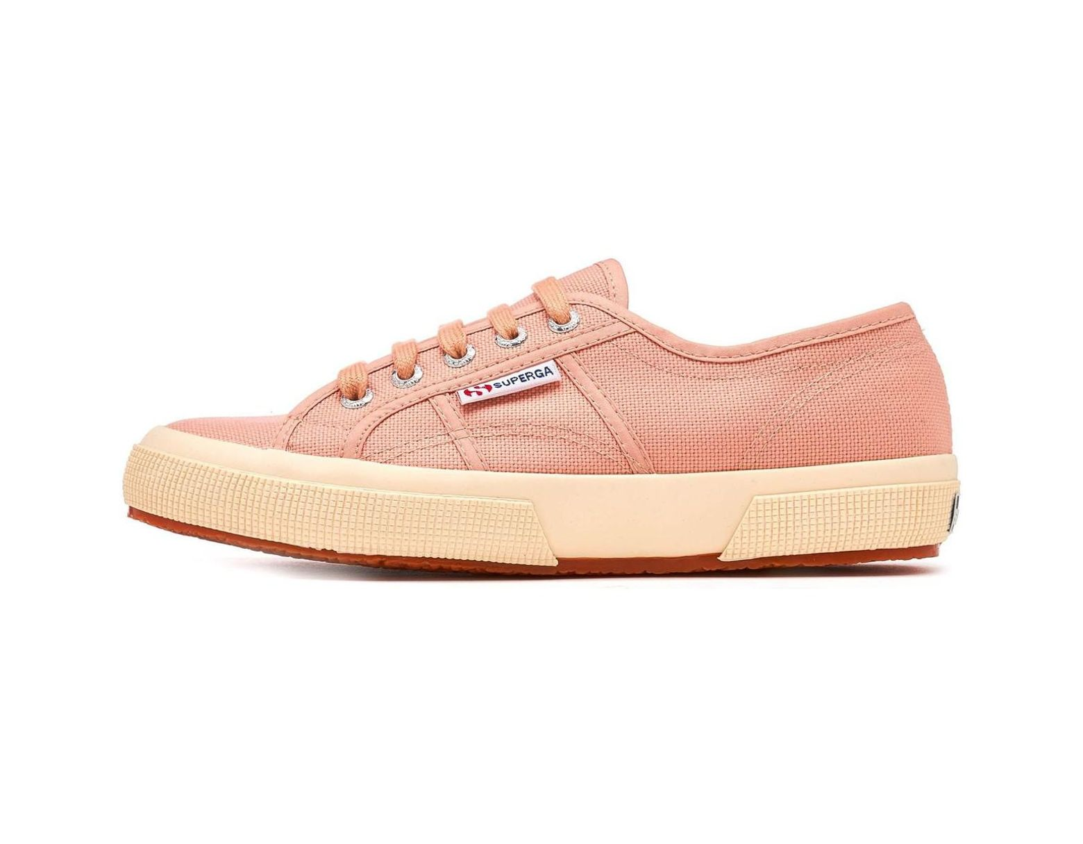 5345b45b86ae Superga 2750 Cotu Classic Canvas Shoes In Rose Mahogany G29 Women s Shoes  (trainers) In Pink in Pink - Lyst