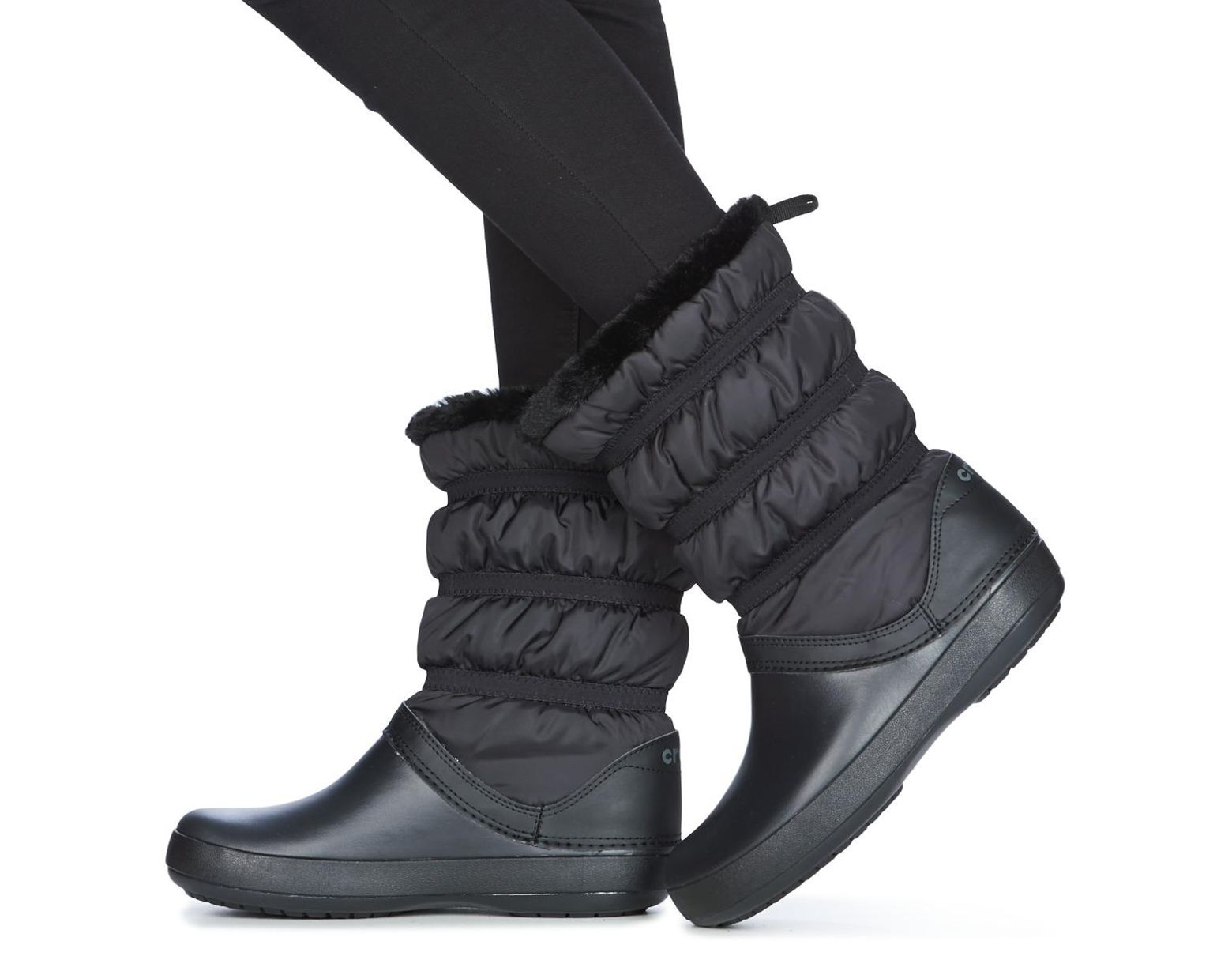 7e35bcc8ada Crocs™ Crocband Winter Boot Women's Snow Boots In Black in Black - Lyst