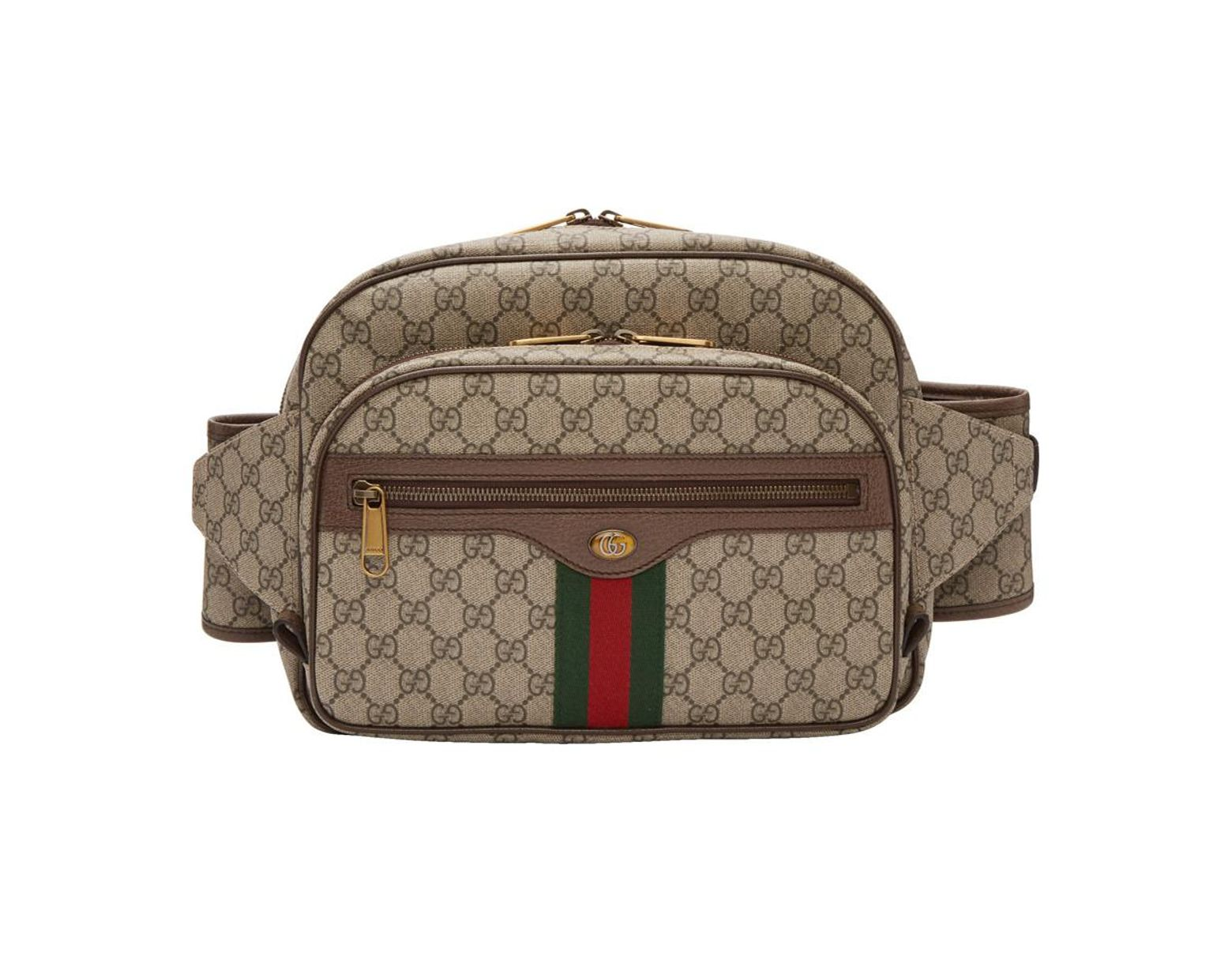 5fdc6543e516 Gucci Brown GG Supreme Ophidia Belt Bag in Natural for Men - Lyst