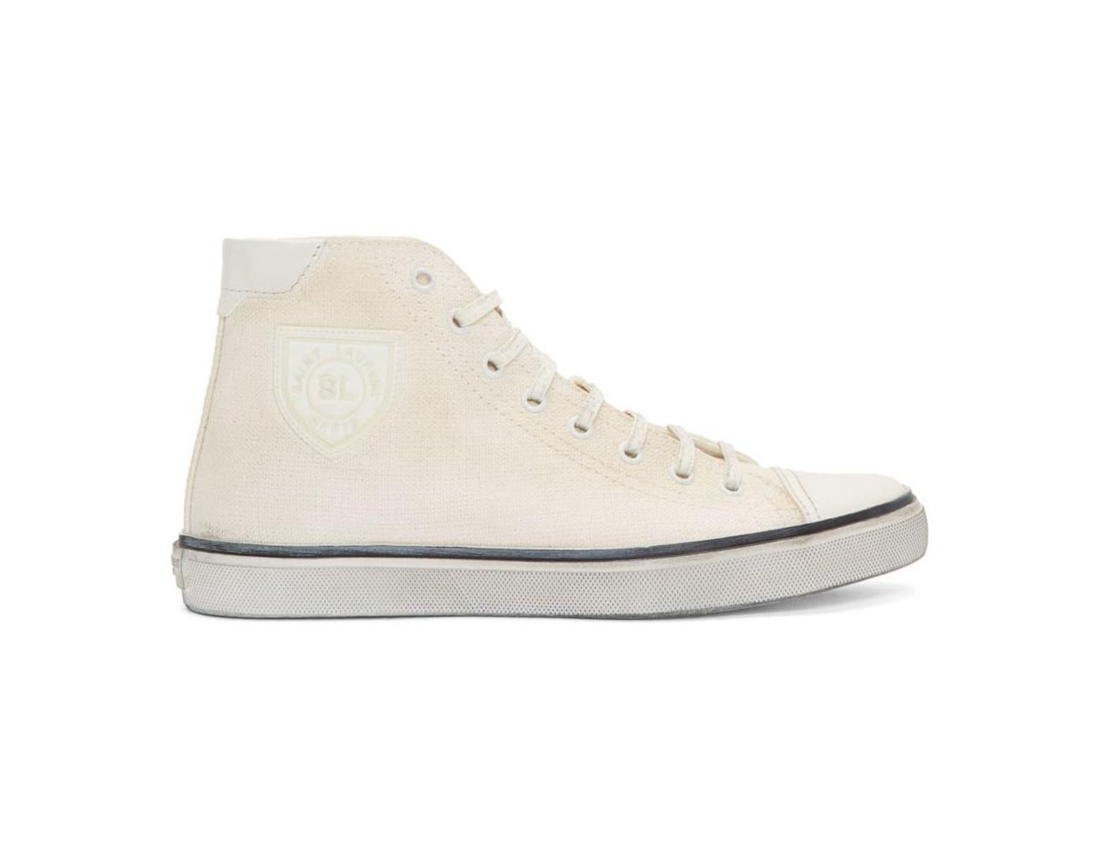 c035816d2c7d Saint Laurent Off-white Bedford Sneakers in White for Men - Save 59% - Lyst