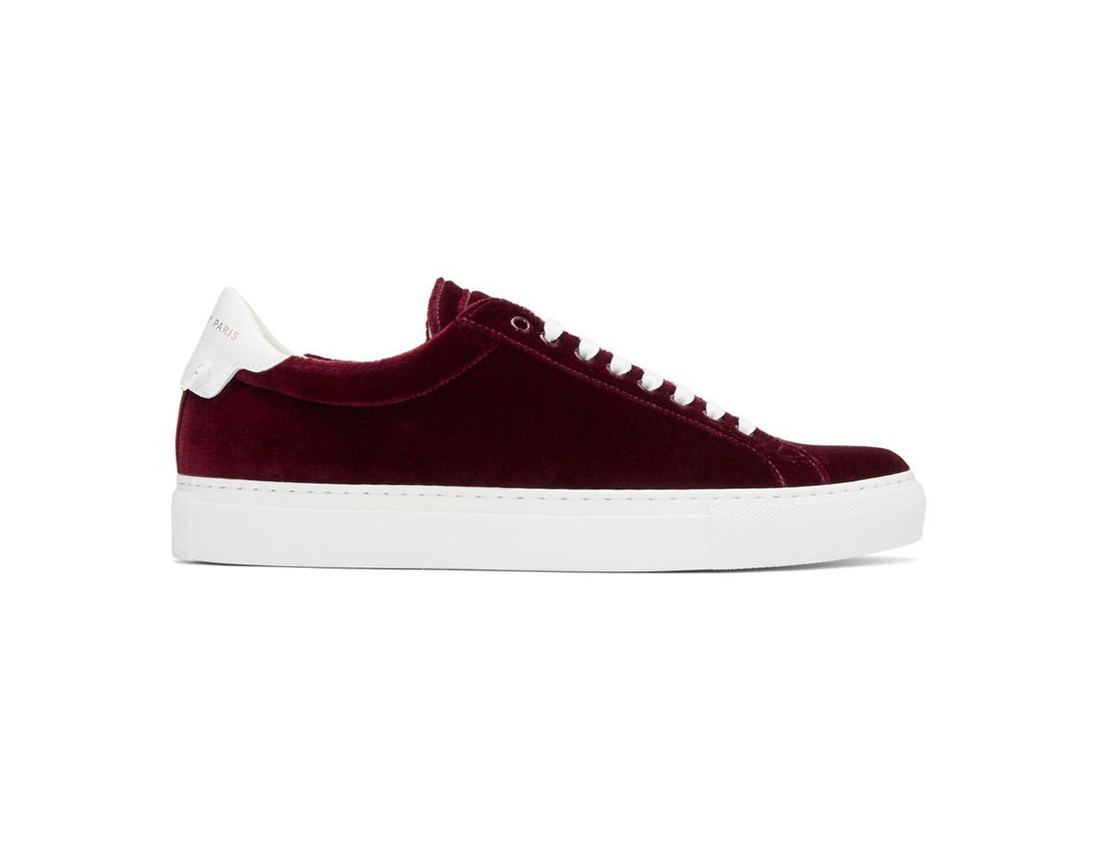best service 3d6c0 c9515 Givenchy Burgundy Velvet Urban Knots Sneakers in Red for Men - Save 40% -  Lyst