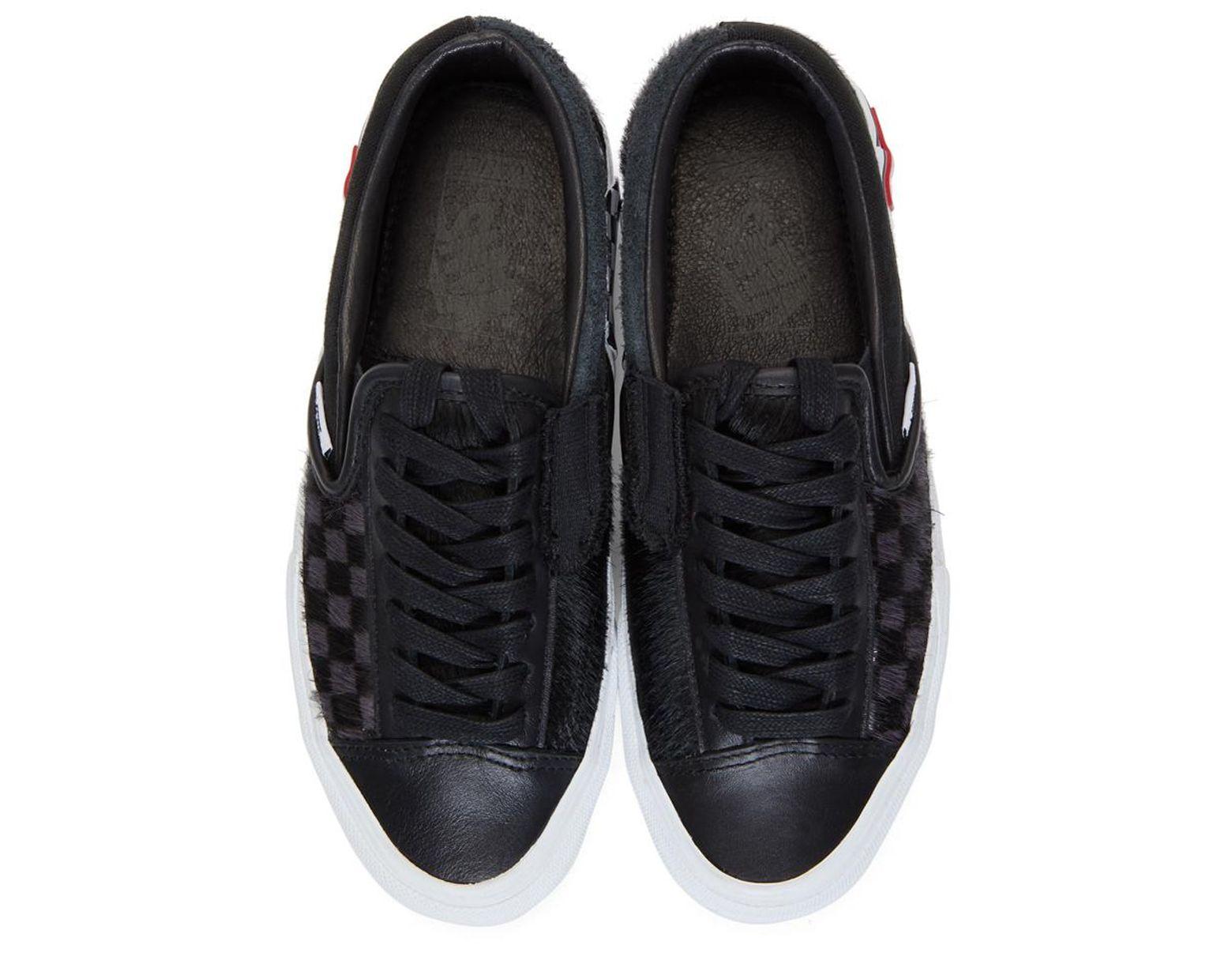 e60b3ca3bd7 Vans Black Vault Pony Hair Slip-on Cap Lx Sneakers in Black for Men - Lyst