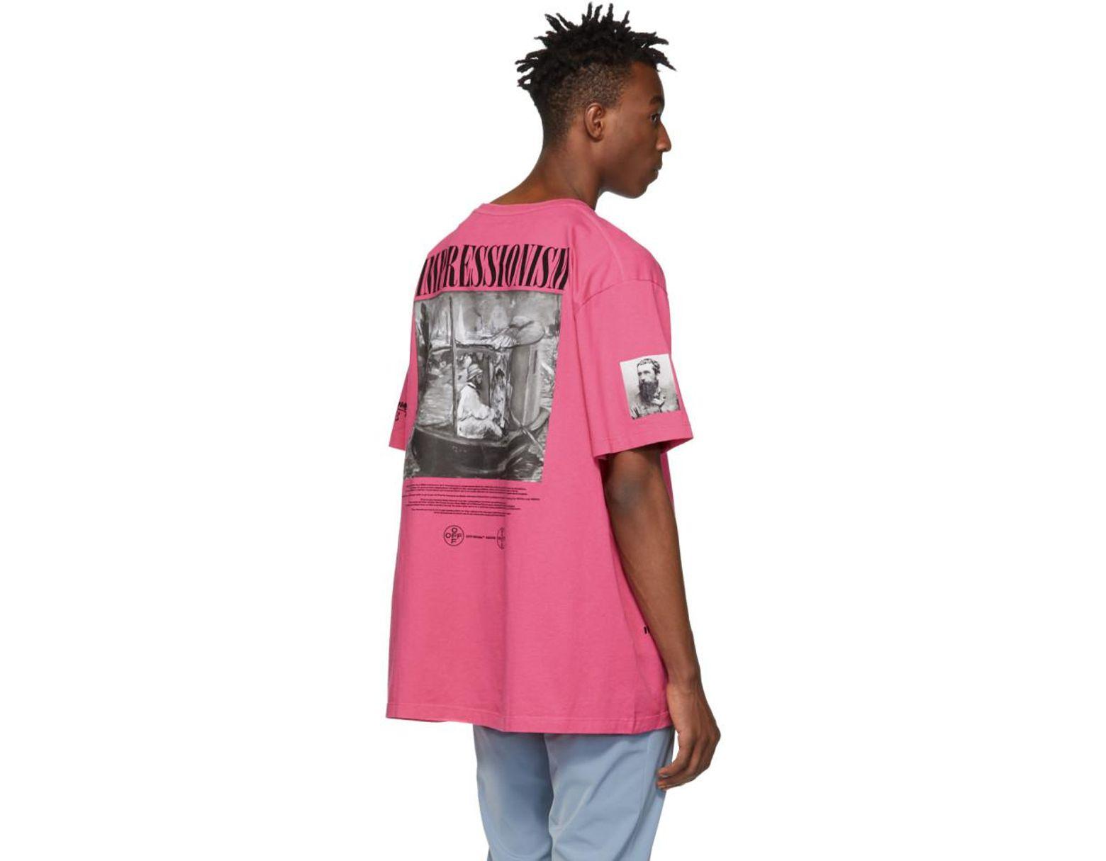 c6d6b89d25816f Off-White c/o Virgil Abloh Pink Impressionism Boat T-shirt in Pink for Men  - Save 35% - Lyst