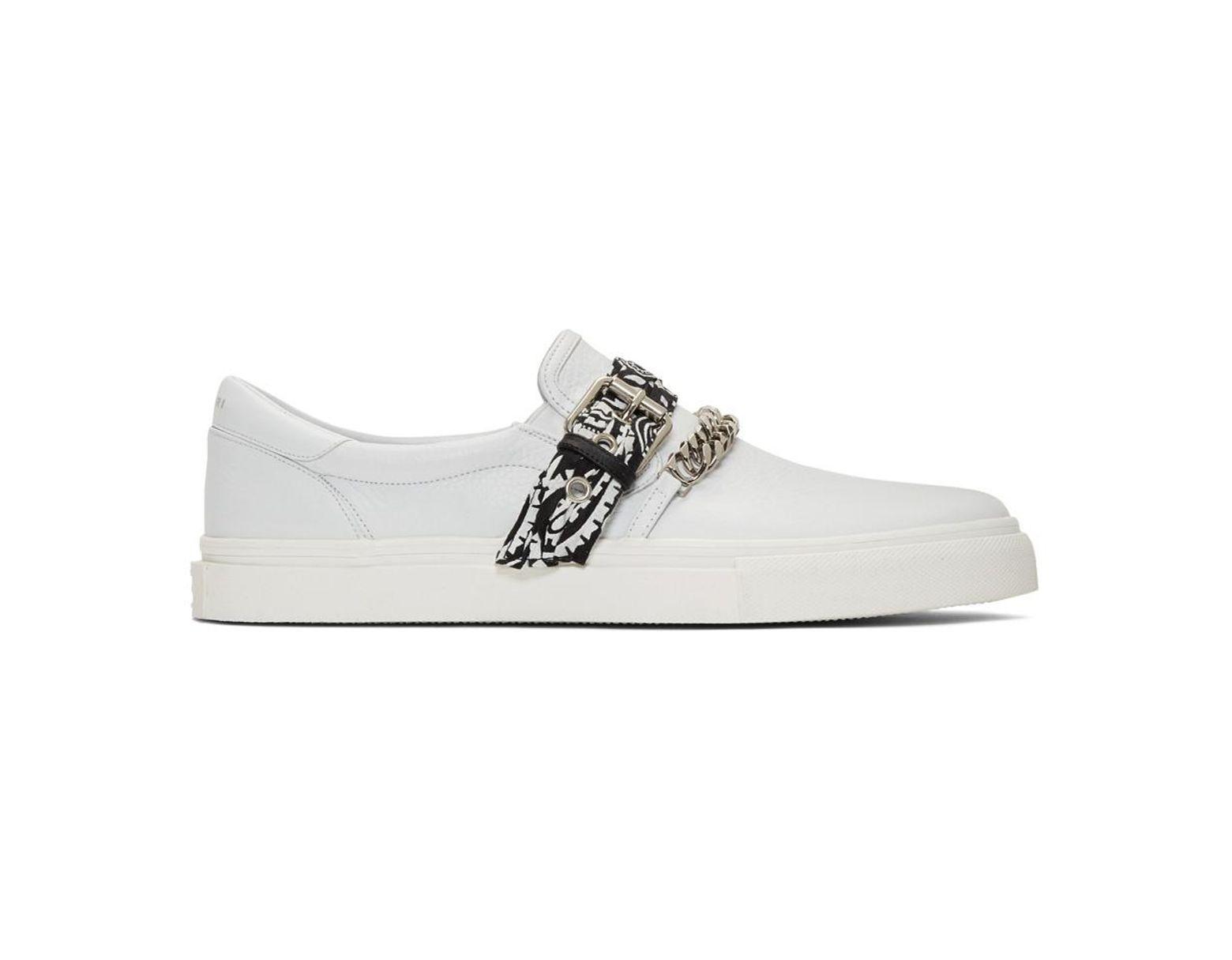 64da01919650 Amiri White Bandana Slip-on Sneakers in White for Men - Lyst