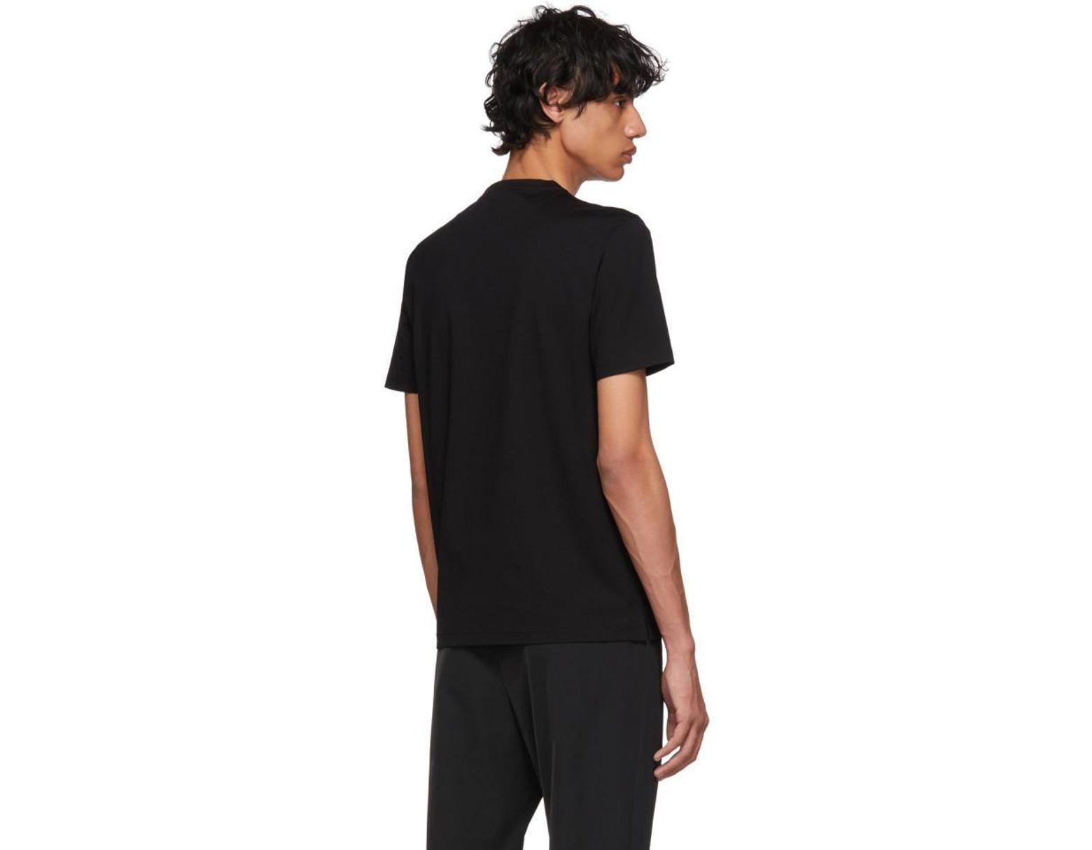 4a2f23986595 Prada Black Satin Pocket T-shirt in Black for Men - Lyst
