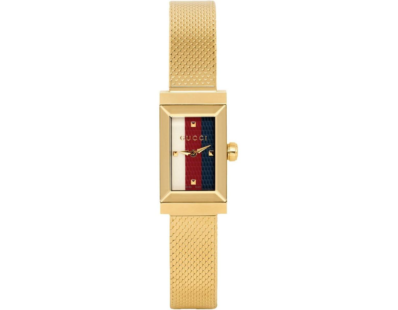 bf7effabe89 Lyst - Gucci Gold G-frame Slim Watch in Metallic
