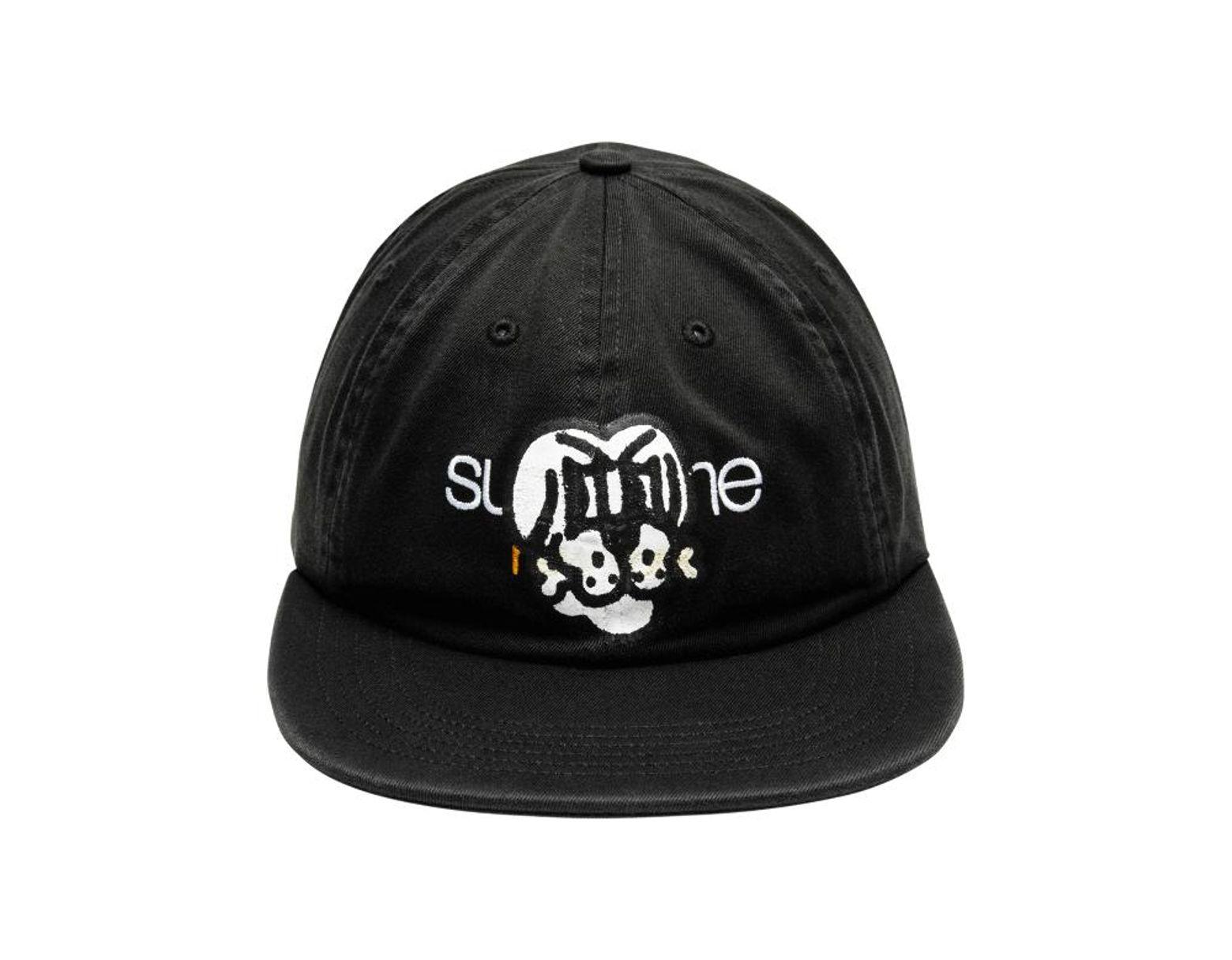 10ff8fc08cafa Supreme Bone Classic Logo 6-panel Cap in Black for Men - Lyst