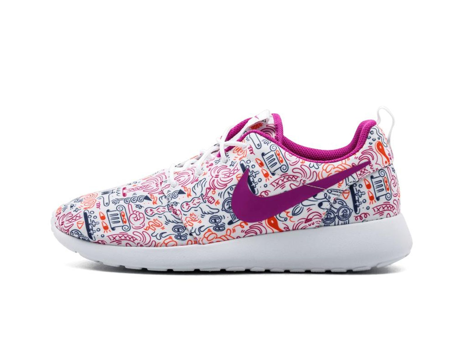 White Womens Roshe One Print Prem Size 7.5w