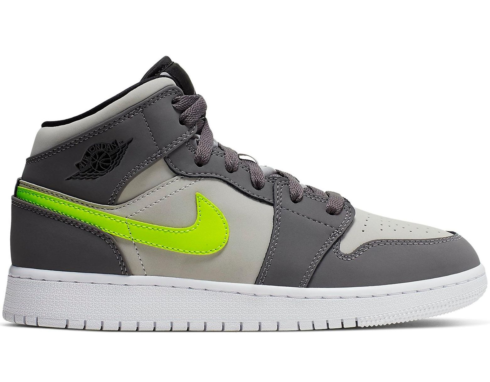 a5efceee Nike 1 Mid Gunsmoke Volt (gs) in Gray for Men - Save 17% - Lyst