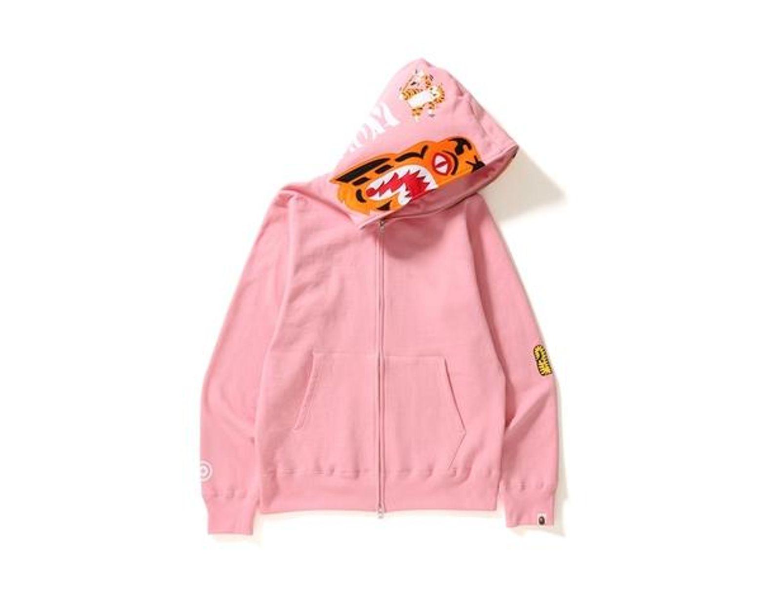 9b31216f A Bathing Ape Tiger Full Zip Hoodie Pink in Pink for Men - Lyst