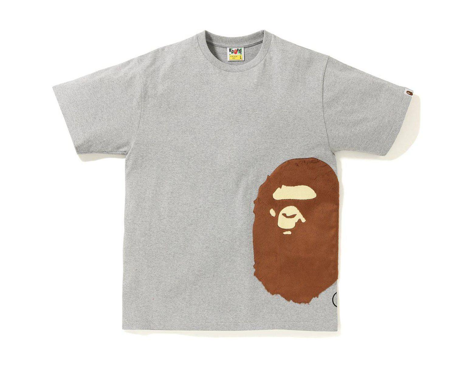 8f5737b6 A Bathing Ape Boa Side Big Ape Head Tee Grey in Gray for Men - Lyst