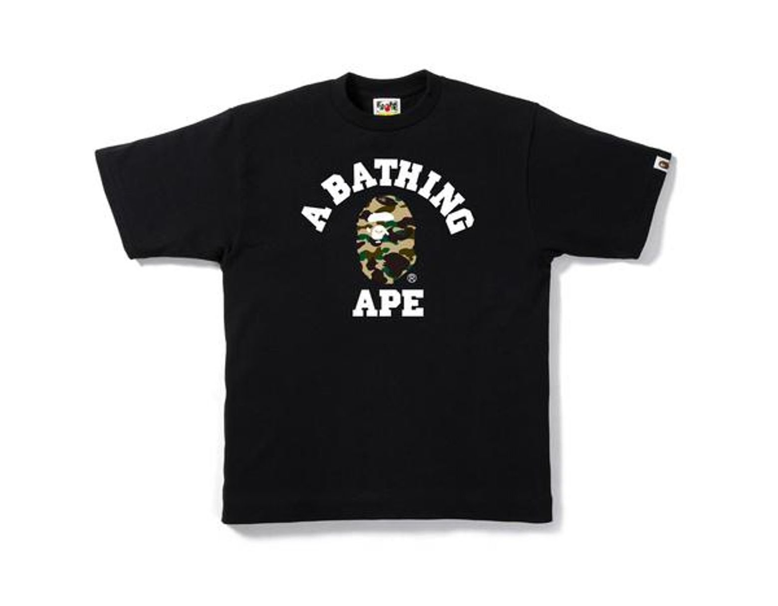 661dc4dd A Bathing Ape 1st Camo College Tee Black/yellow Camo in Black for ...