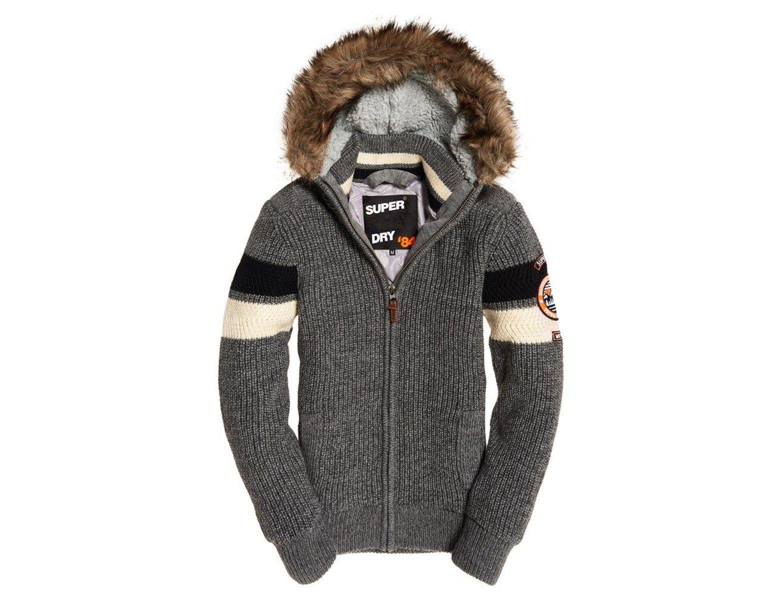 243096c8 Superdry Super Ski Dog Hoodie in Gray for Men - Lyst