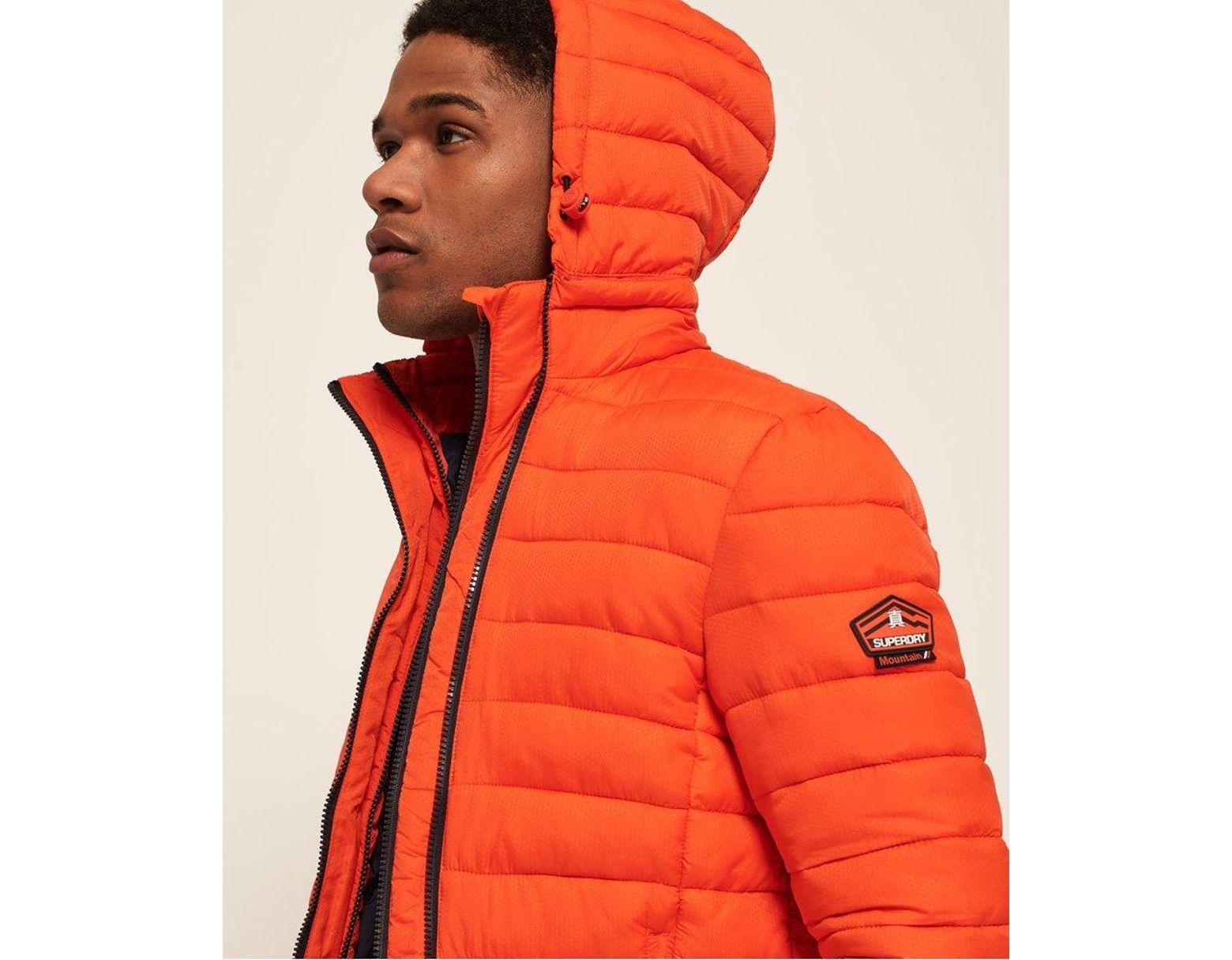 19a74c5b91d63 Superdry Fuji Double Zip Hooded Jacket in Orange for Men - Lyst