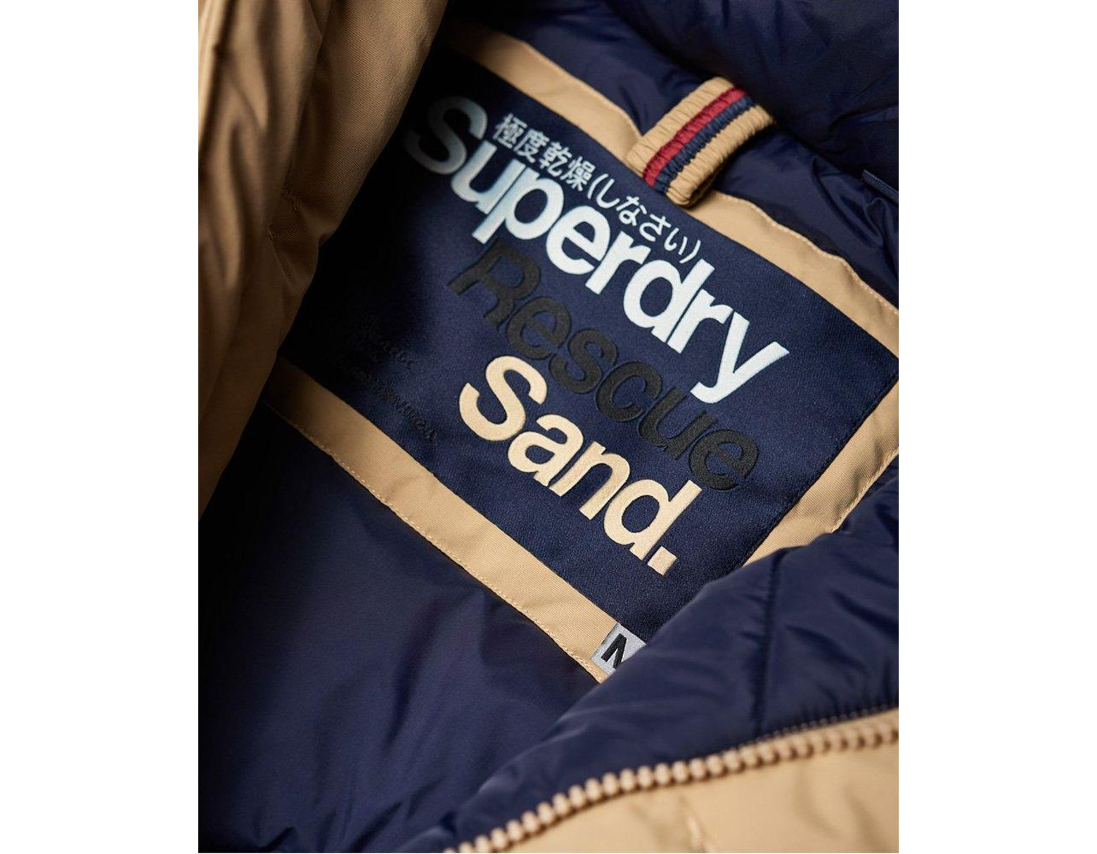71a91ce4ff4 Superdry Faux Fur Trimmed Everest Coat in Natural for Men - Lyst