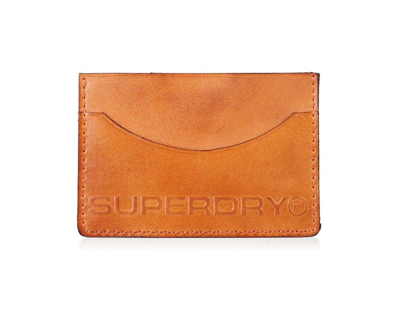 4610dcab Superdry Premium Card Holder in Orange for Men - Lyst