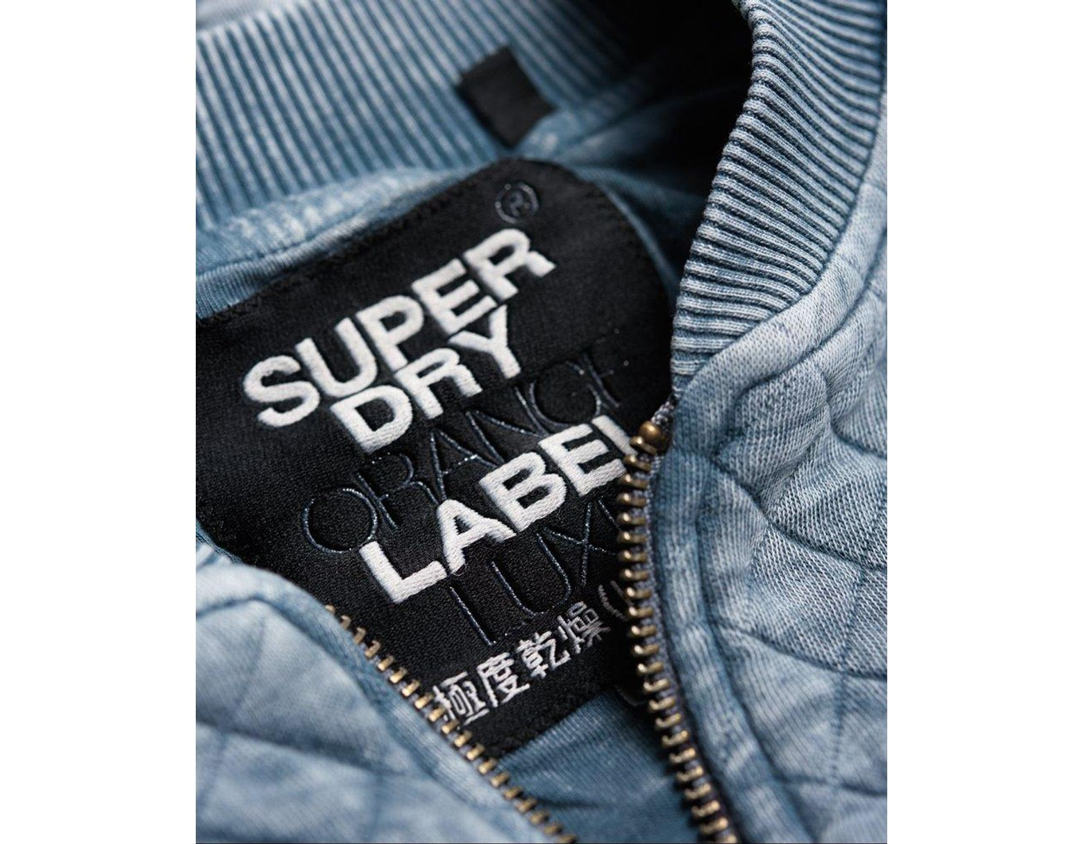 dfe5fc4d9 Superdry Beach Micro Jersey Bomber Jacket in Blue - Lyst