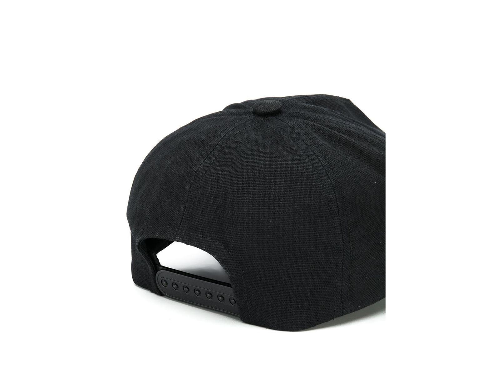 d4a679d7c Isabel Marant Tyron Logo Cotton Cap in Black - Lyst